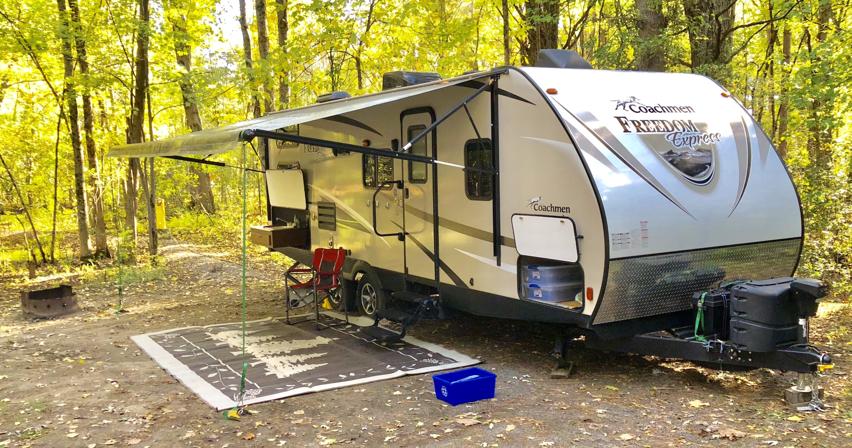 Private site at a local provincial park. Coachmen Freedom Express 2016