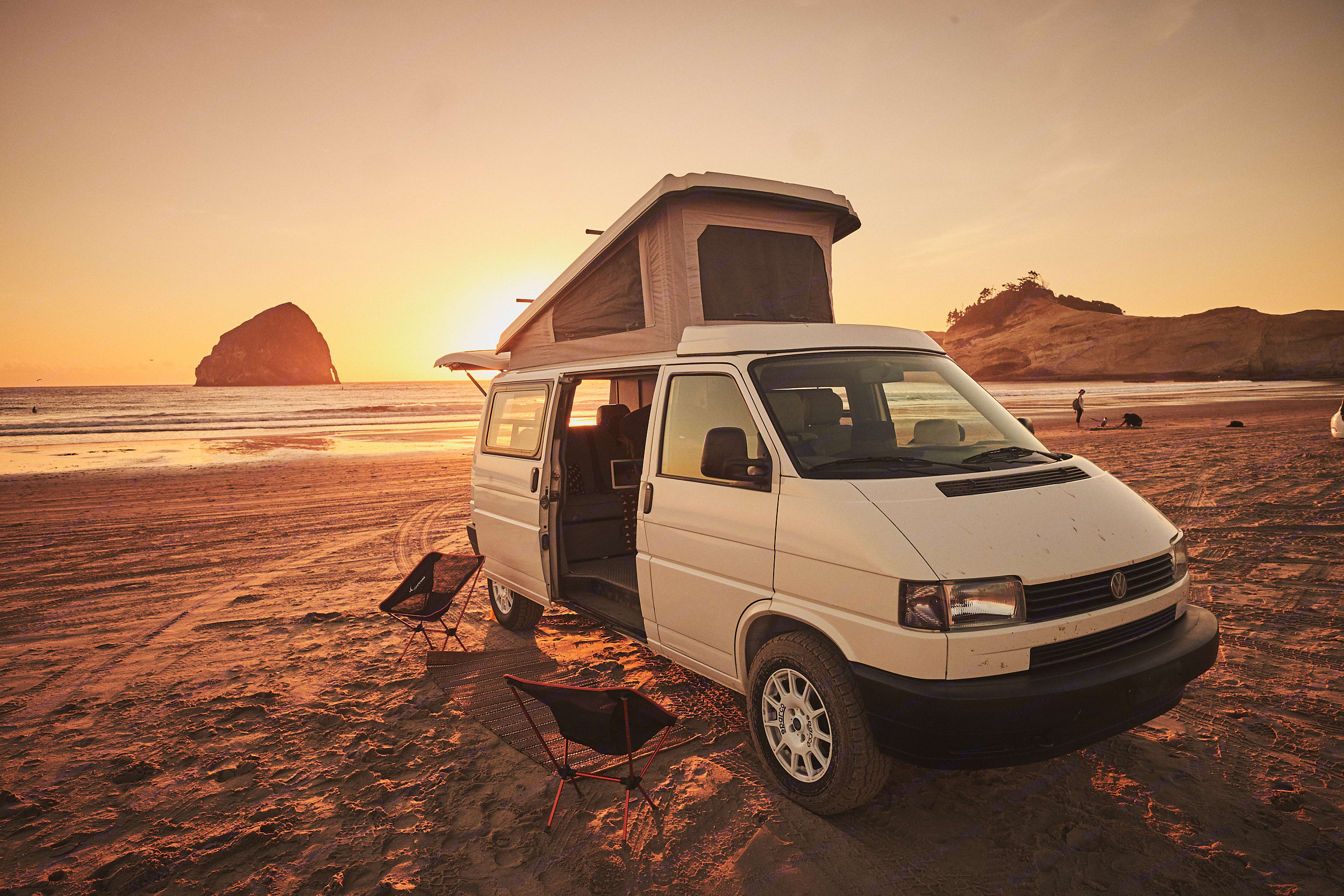 Driftwood is perfect for up to four.  . Volkswagen Eurovan Camper 1995