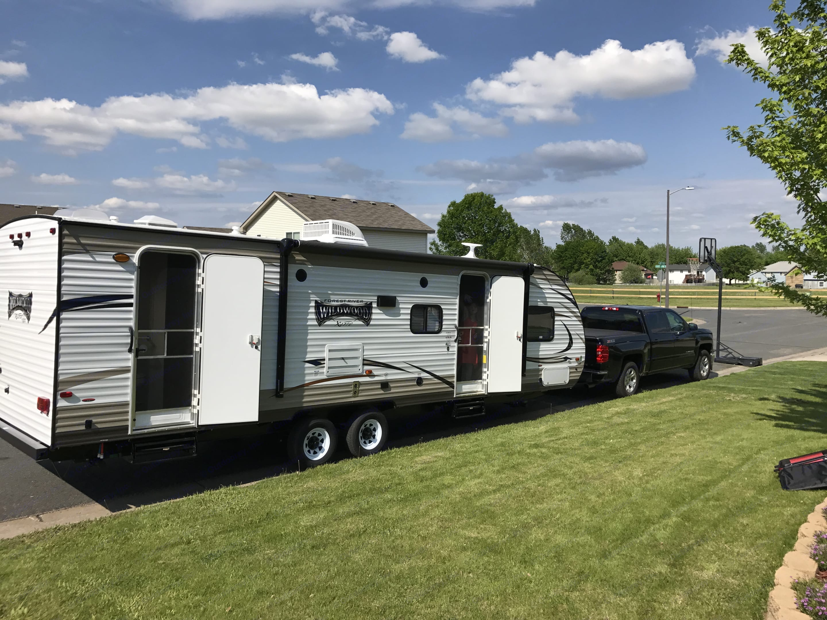Here is the trailer the day we brought it home.. Forest River Wildwood X-Lite 2018