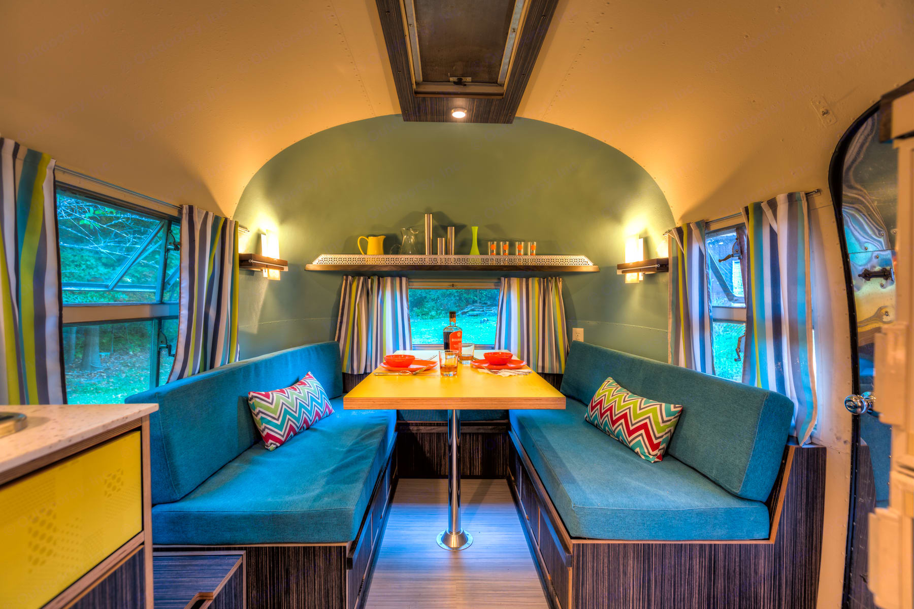 Enjoy completely reimagined and updated living spaces.. Airstream Overlander 1958