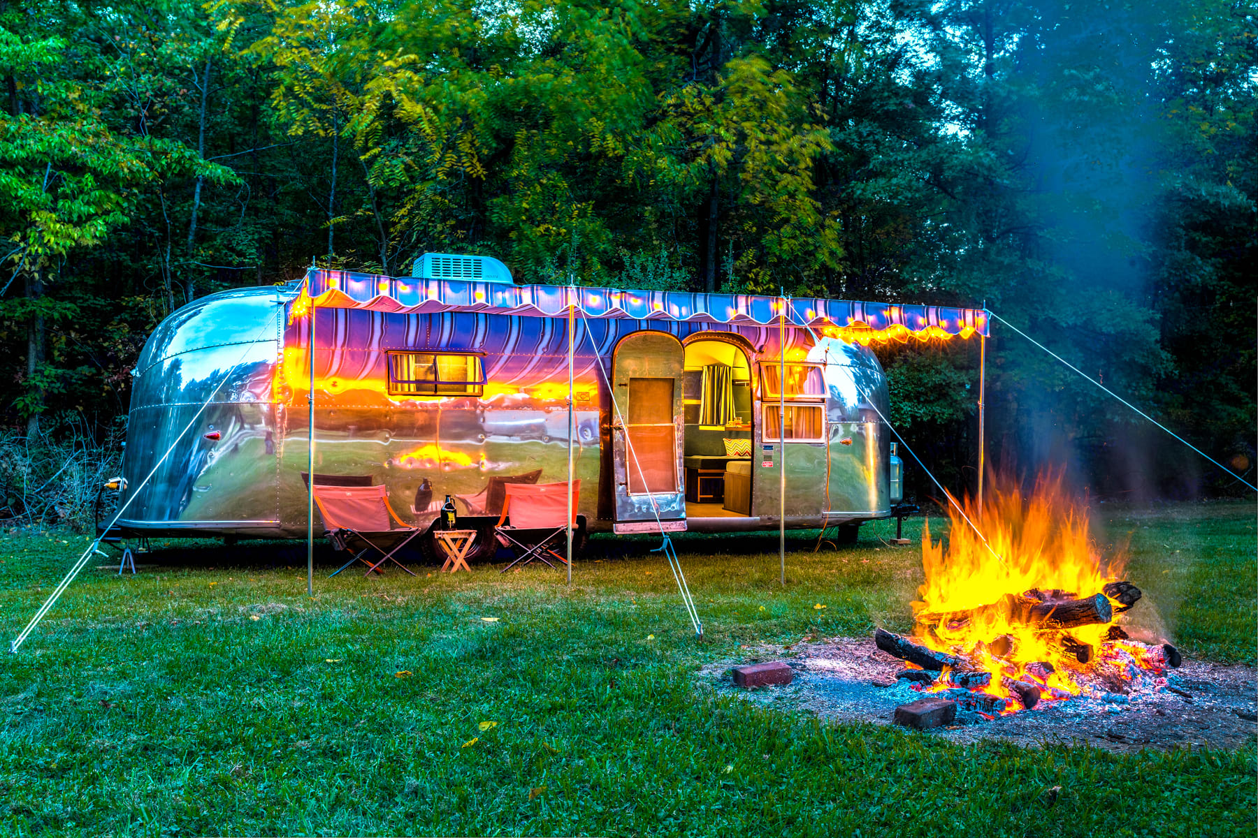Comes with a large awning for shade to keep you cool and cozy.. Airstream Overlander 1958