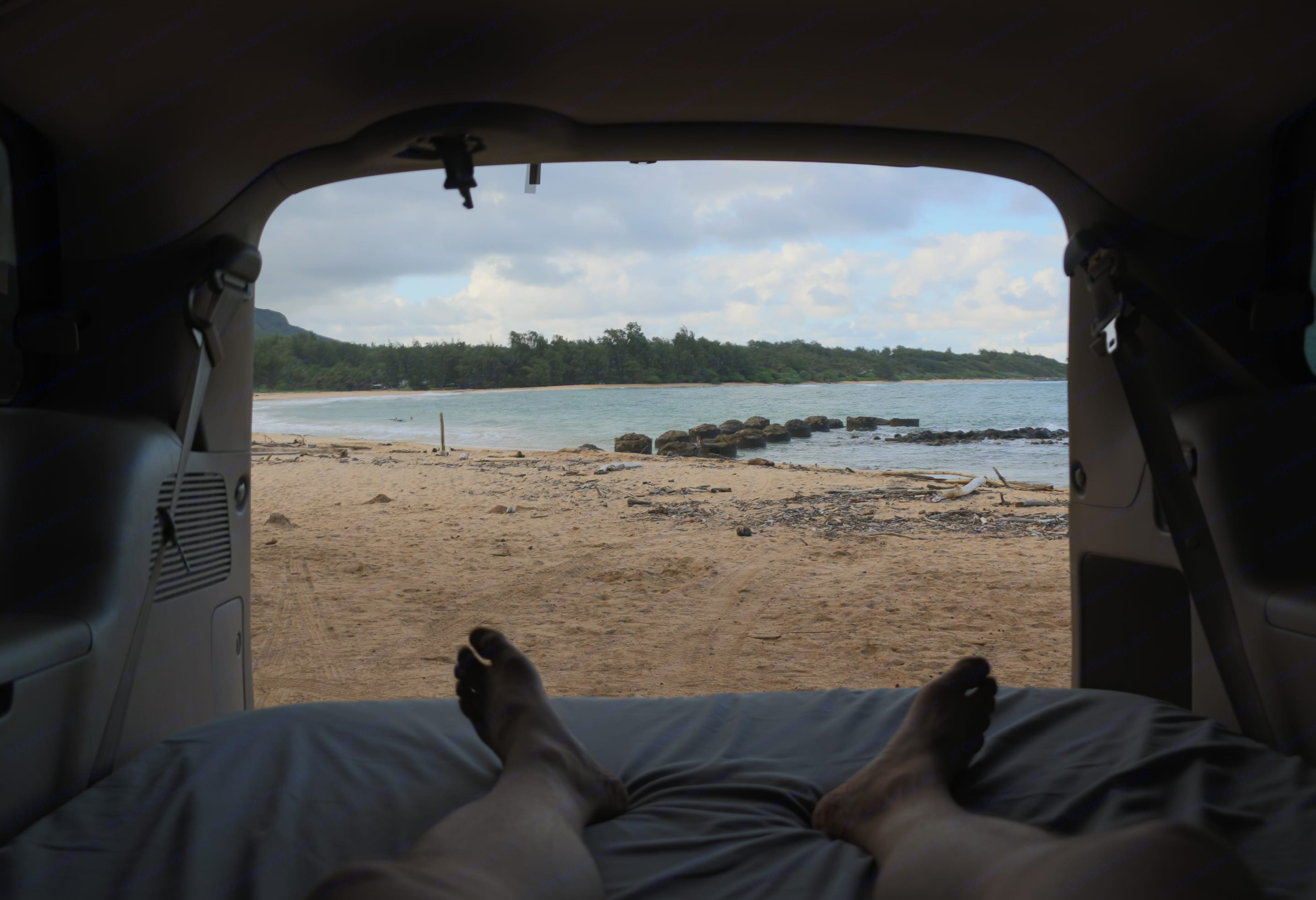That's my kind of view. I love camping in this thing. . Toyota Sienna Camper 2004
