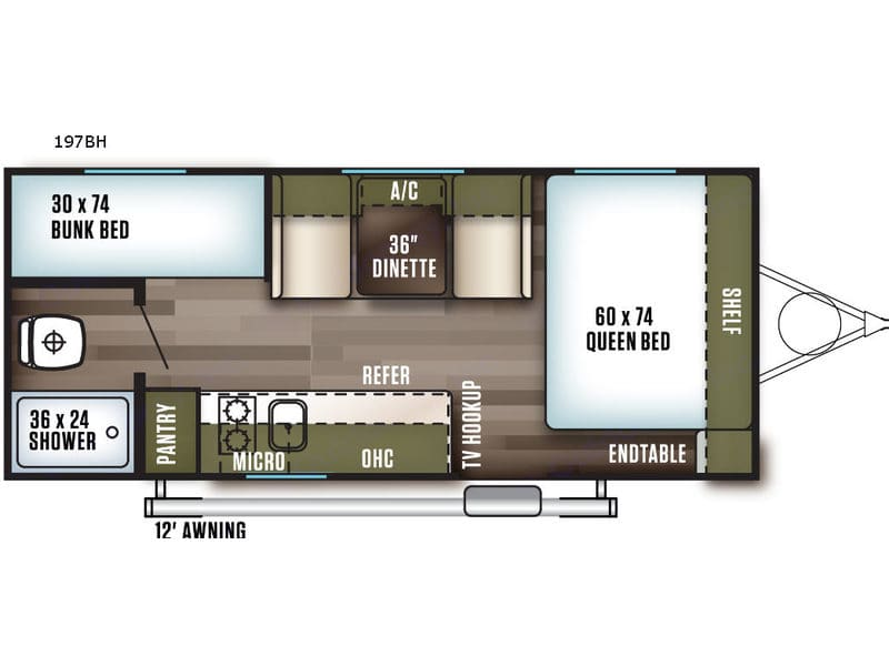 The layout is roomy with ample hidden & overhead storage, pantry space, separate bath, and well insulated for those hot summer days or cold winter mights!. Forest River Wildwood X-Lite 2018