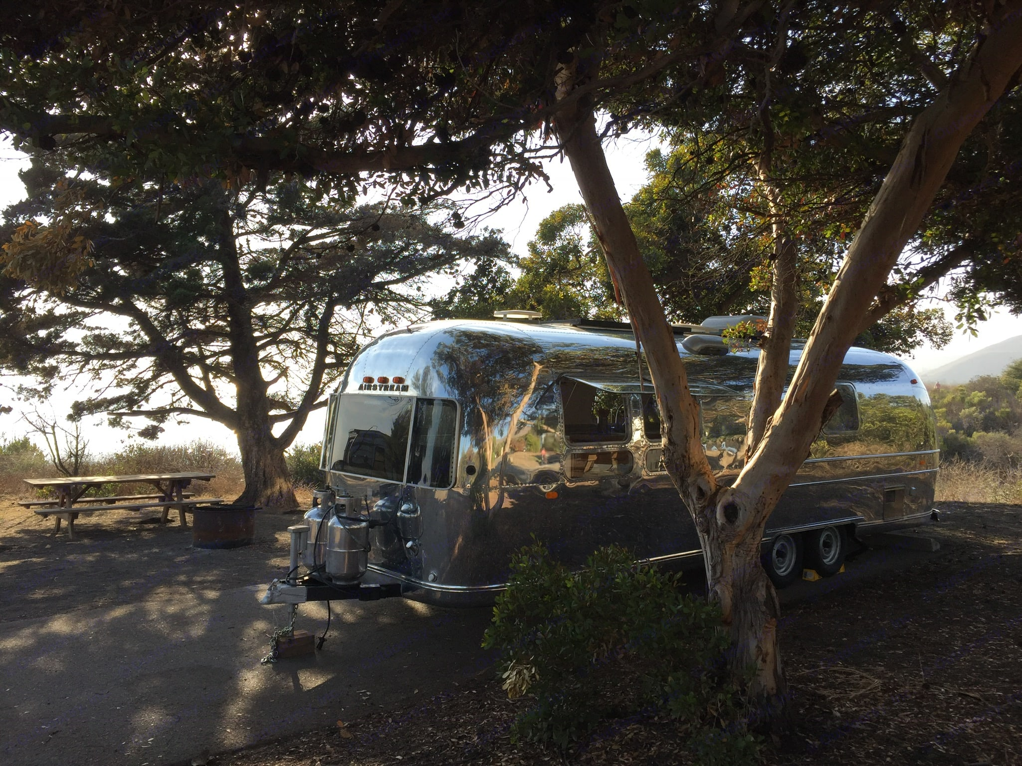Camping in the trees at El Capitan this trailer is an absolute gem.. Airstream Ambassador 1969