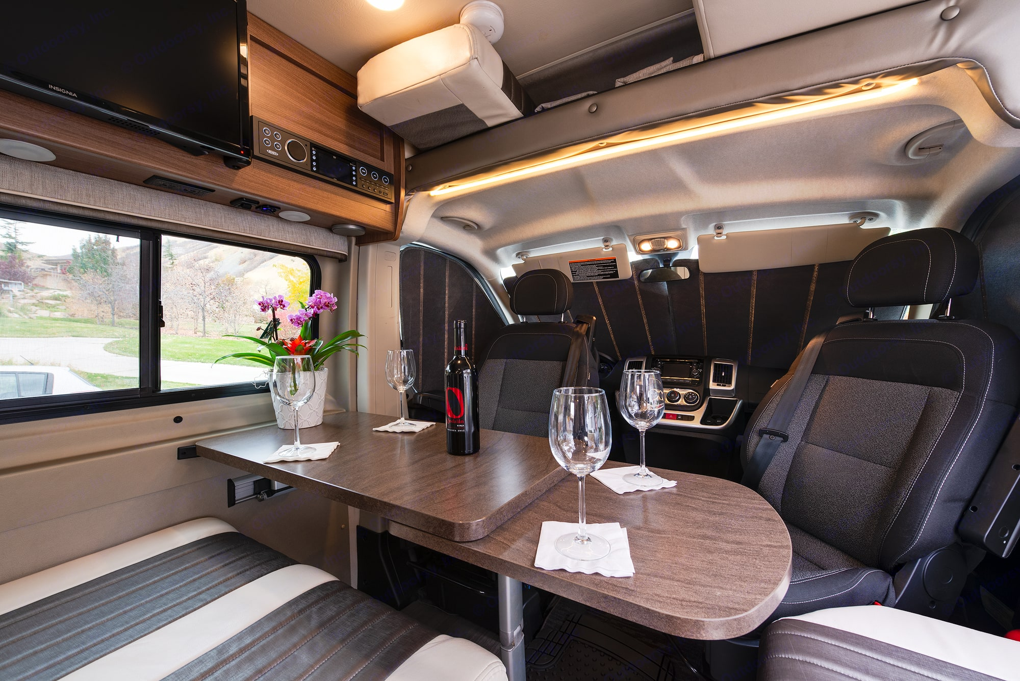 Comfortable seating and dining for 4.. Winnebago Travato 2016