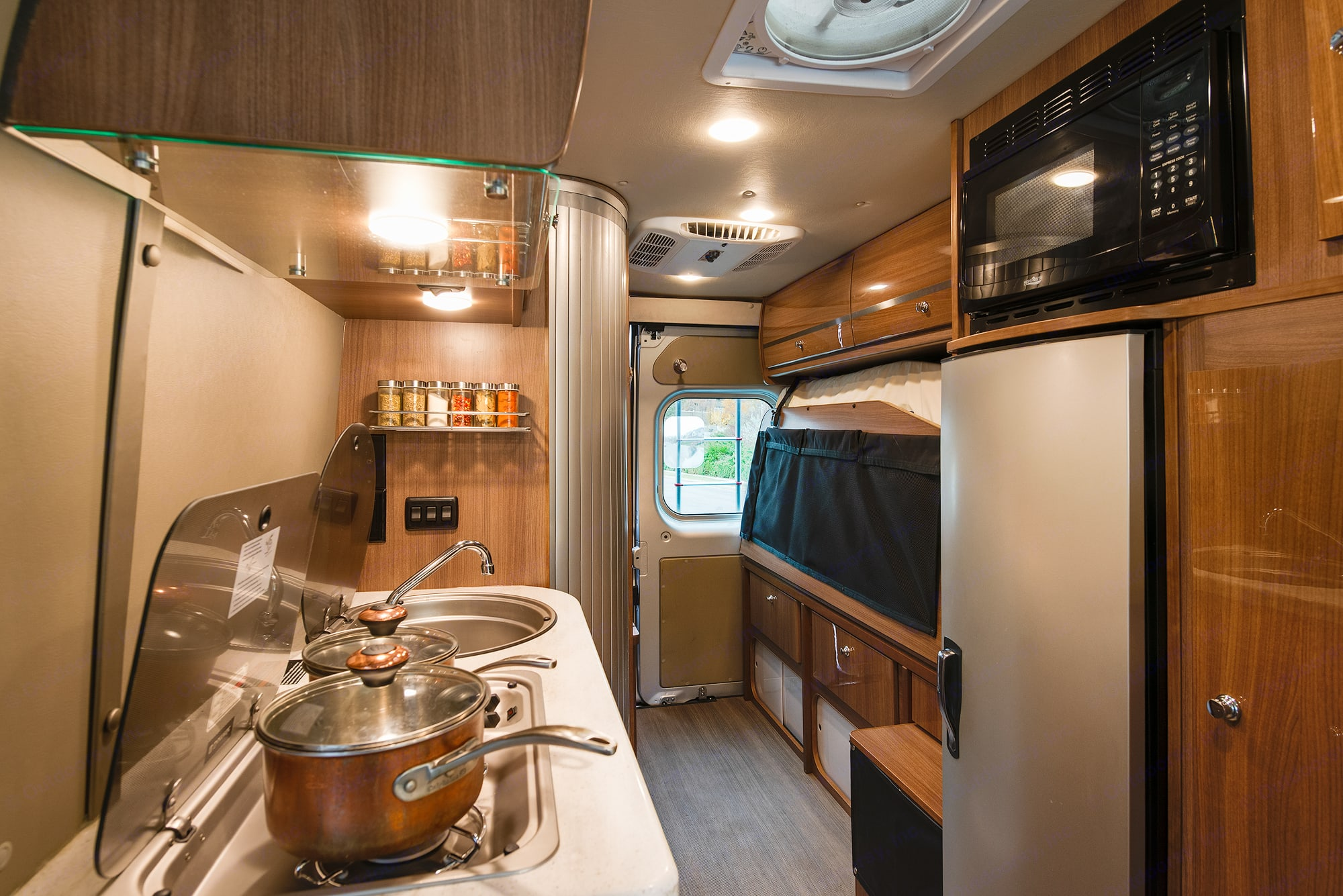 Note: burner have been capped and we now offer portable dual burner camp stove.. Winnebago Travato 2016