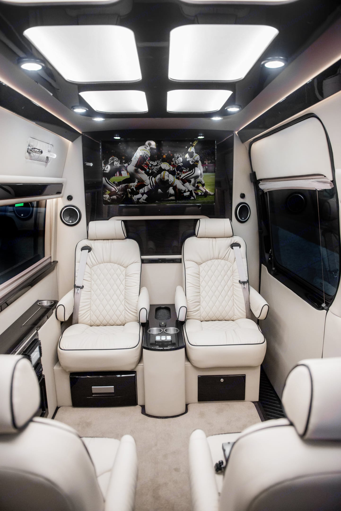 """4 total captain's chairs with 40"""" TVs (including AppleTV and WiFi). Ultimate Toys Ultimate Limo 2019"""