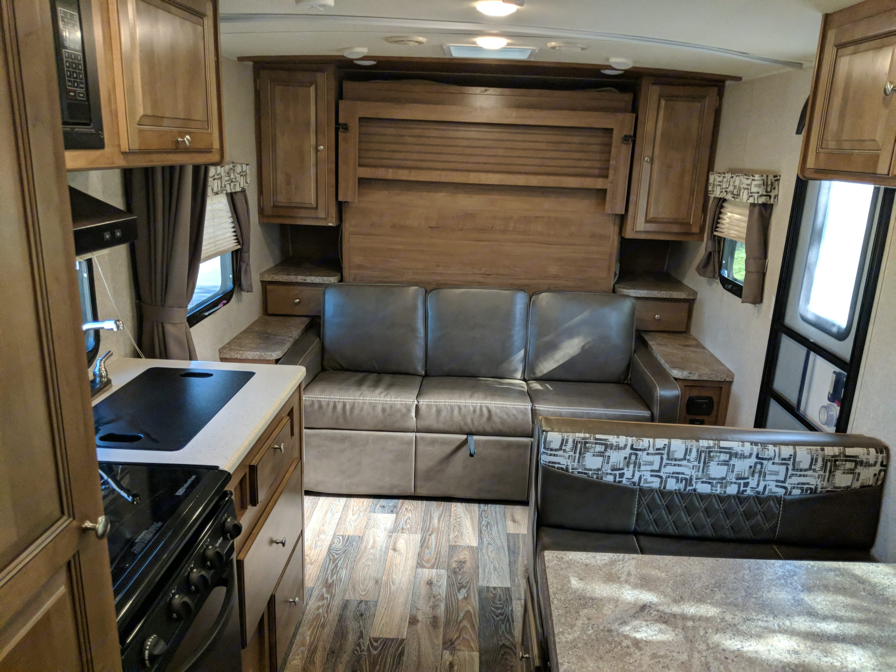 Couch and Murphy Bed. Forest River Rockwood Mini Lite 2017