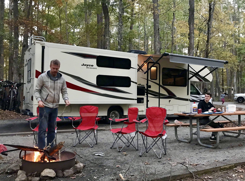 All setup at camp. Jayco Redhawk 2017