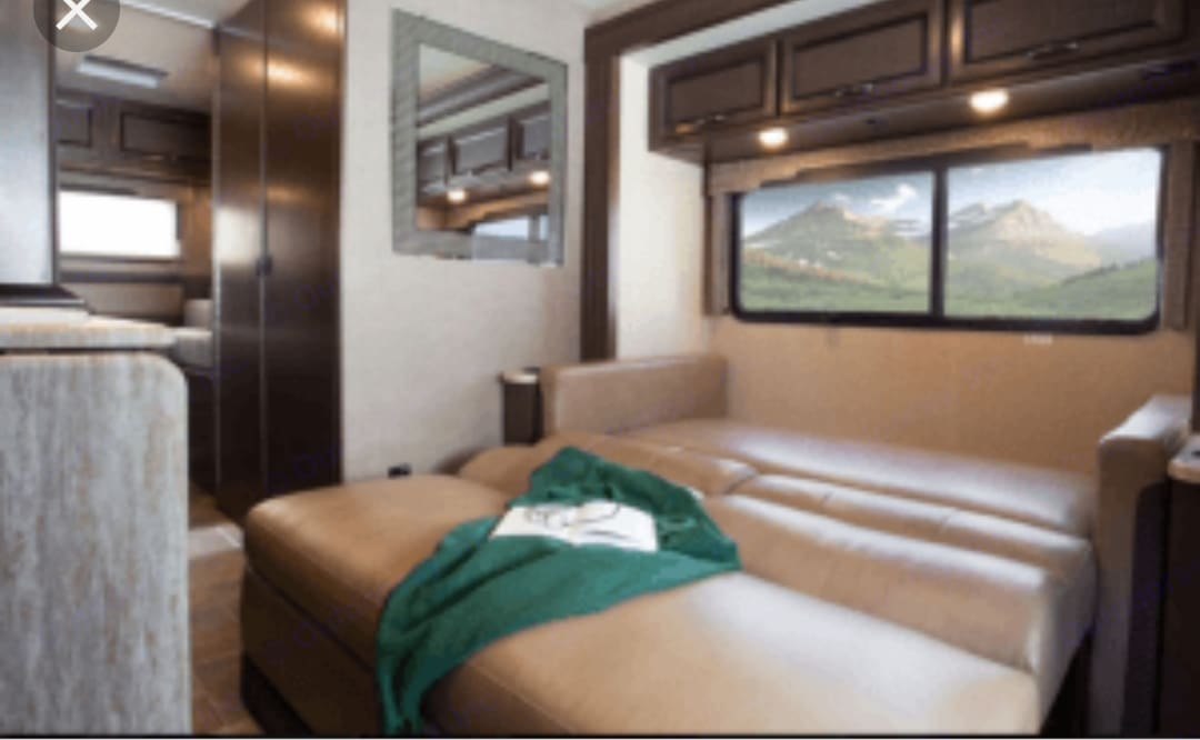 Slide out bed sleep 2 kids are 1 Adult. Thor Motor Coach Vegas 2017