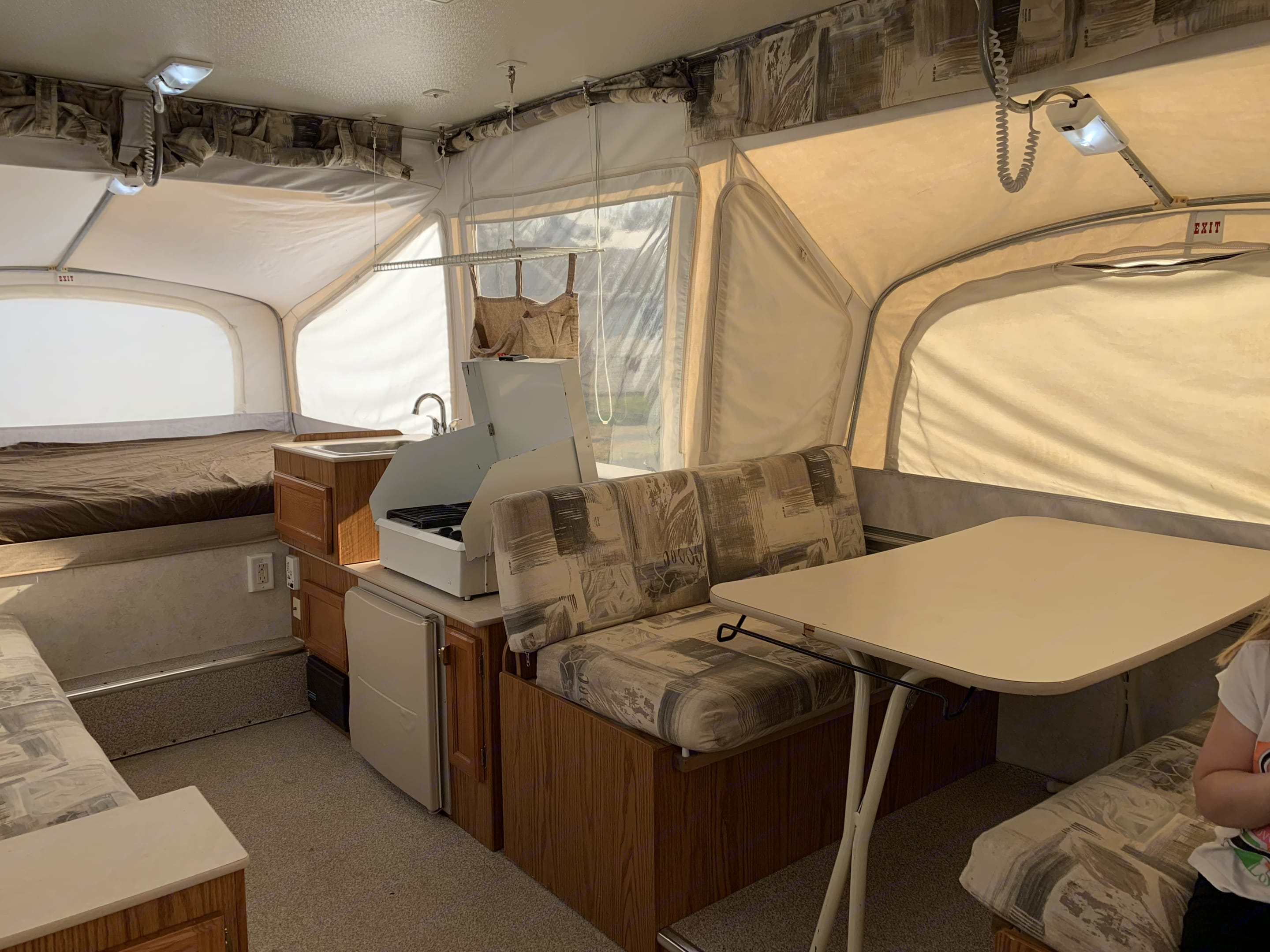 Extended Kitchen provides extra living space. . Jayco Heritage Cascade 2001