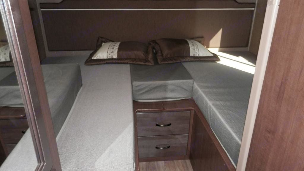 Can be used as two twin beds. Thor Motor Coach Chateau 2019