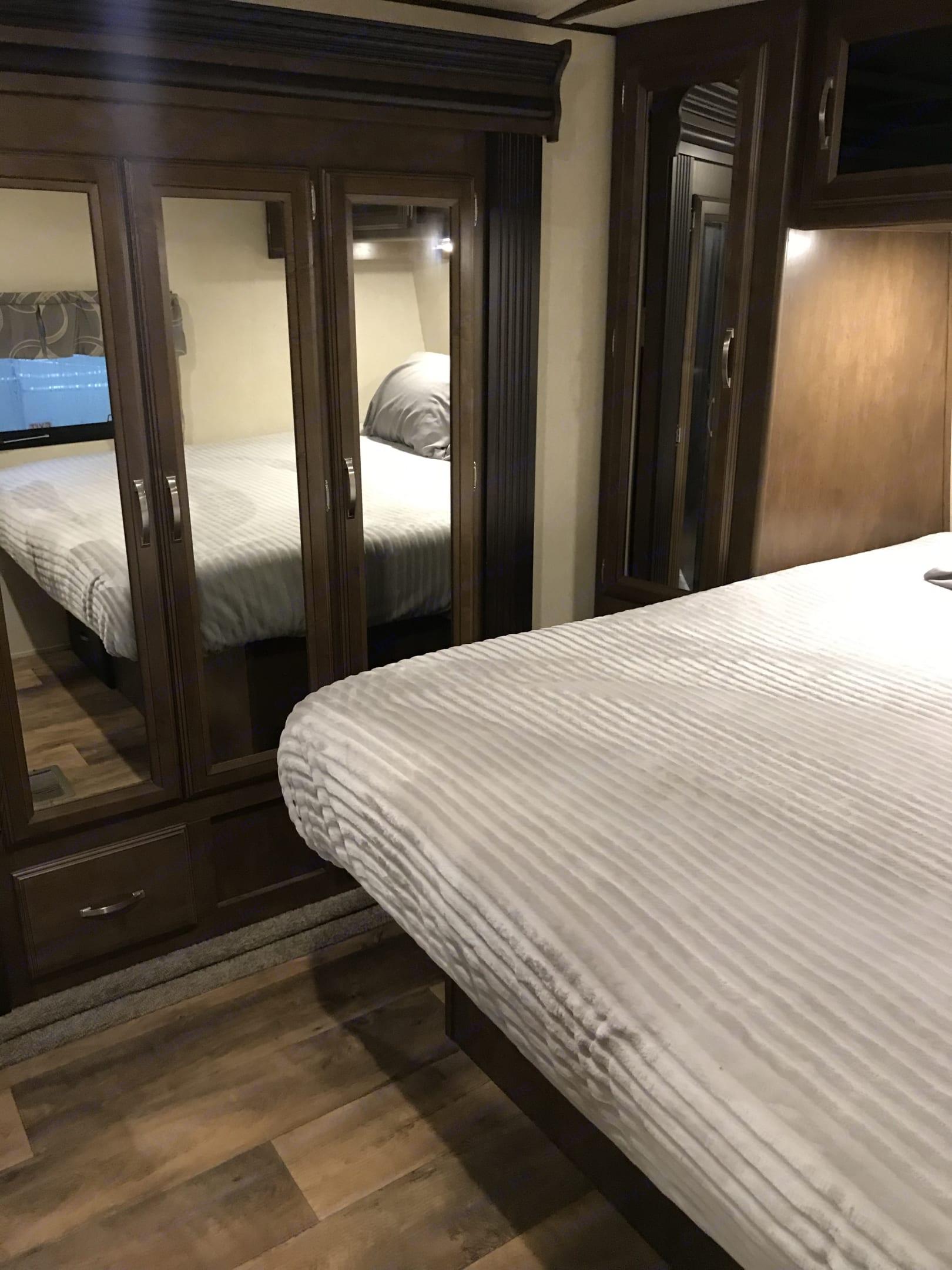 Closet in bedroom lots of storage . Forest River Salem Hemisphere 2017