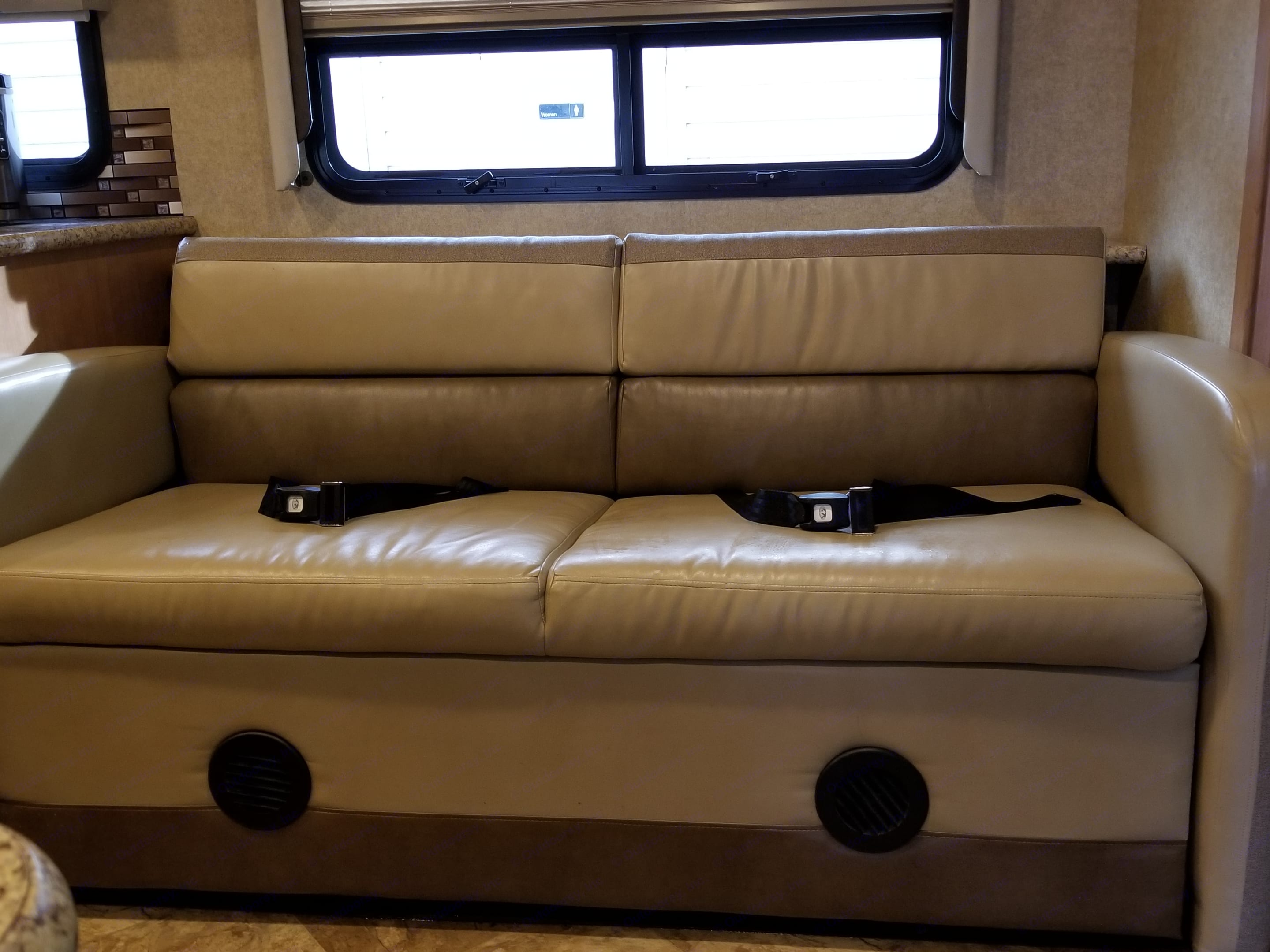 Very comfortable couch. Thor Motor Coach A.C.E 2016