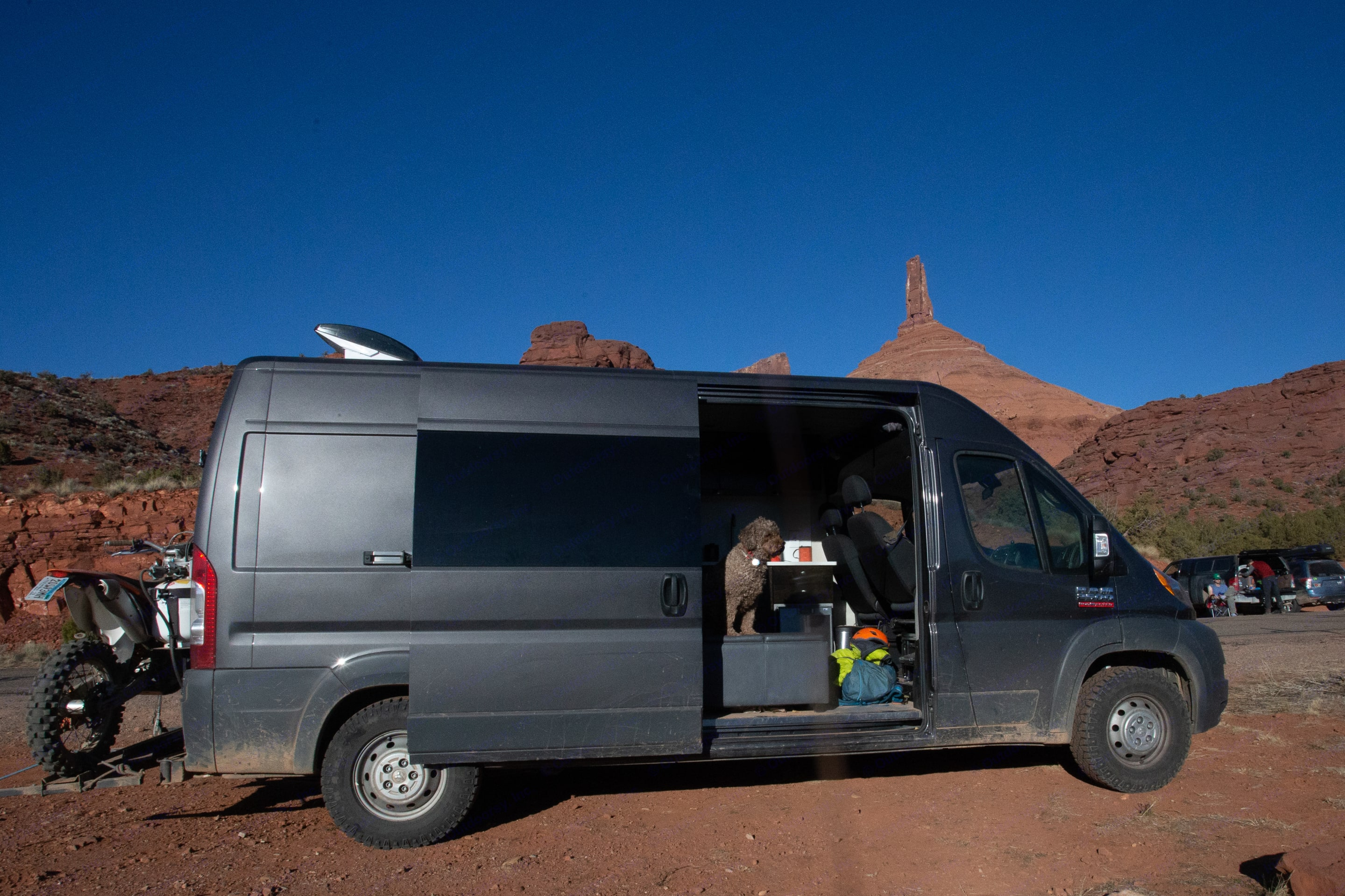 fans keep the van cool in the desert. Quality Adventure base 2018