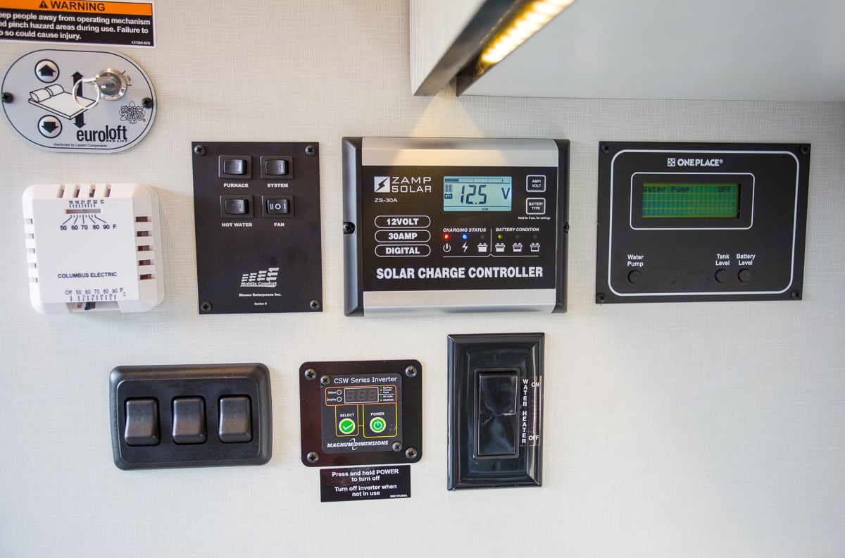 The central control panel. Winnebago Other 2018