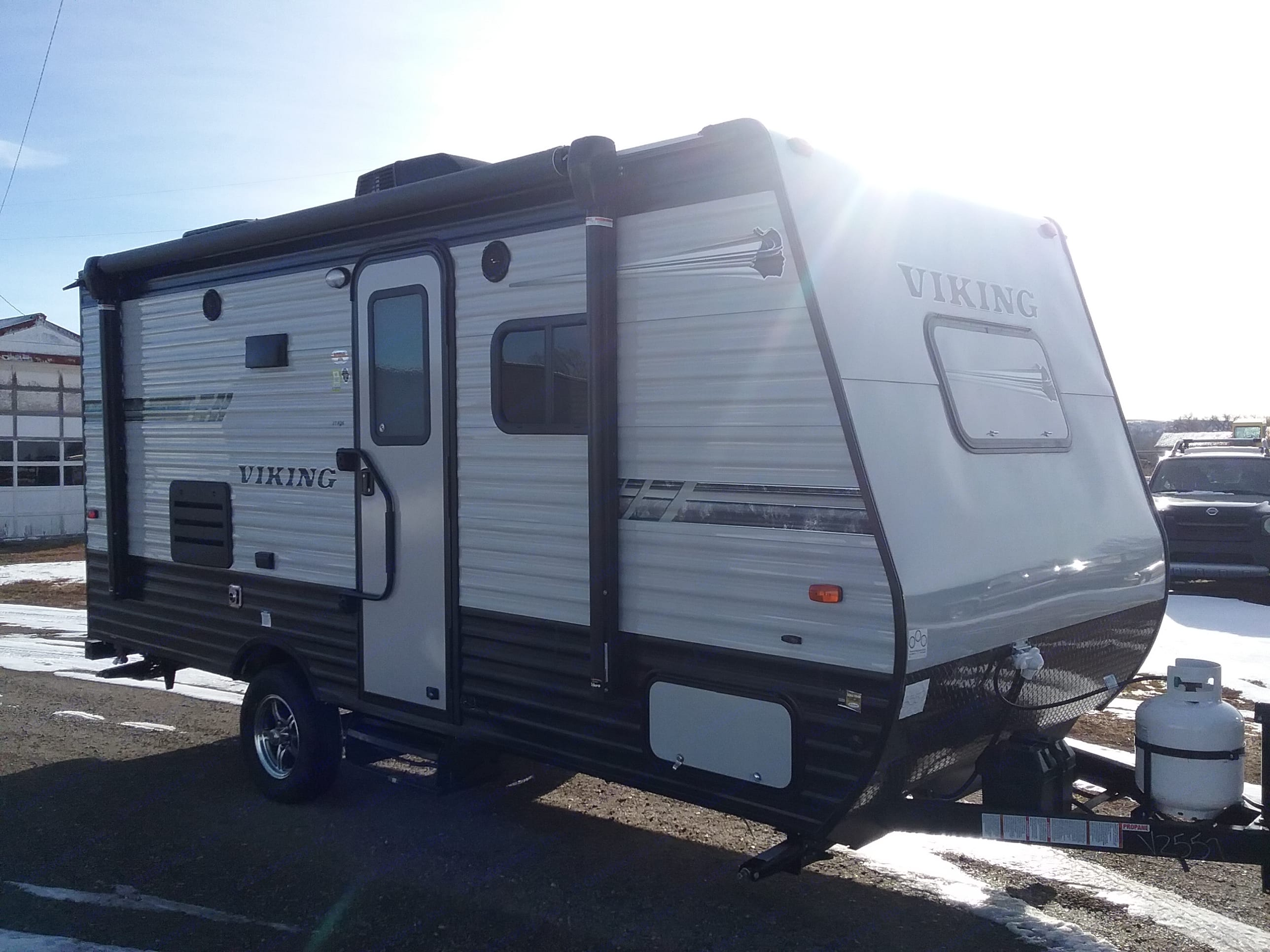 The sun is shining on the new 2019, just picked up from the dealer today!. Coachmen Viking 2019