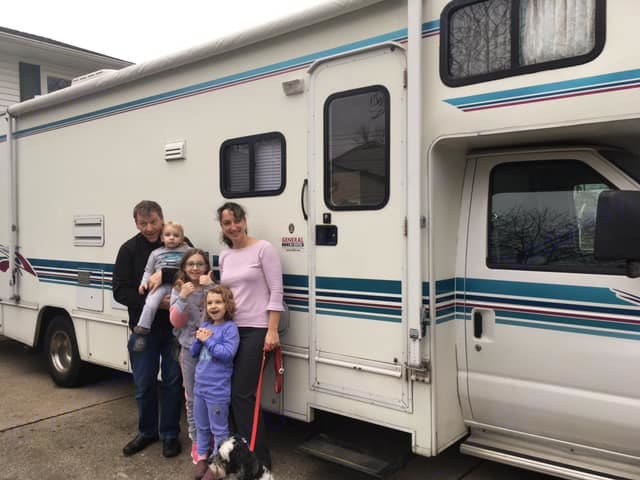 Our first day with our RV in 2018!. Winnebago Minnie 2000