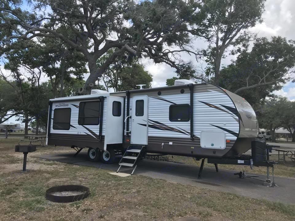 Lake Texana. Forest River Wildwood 2018
