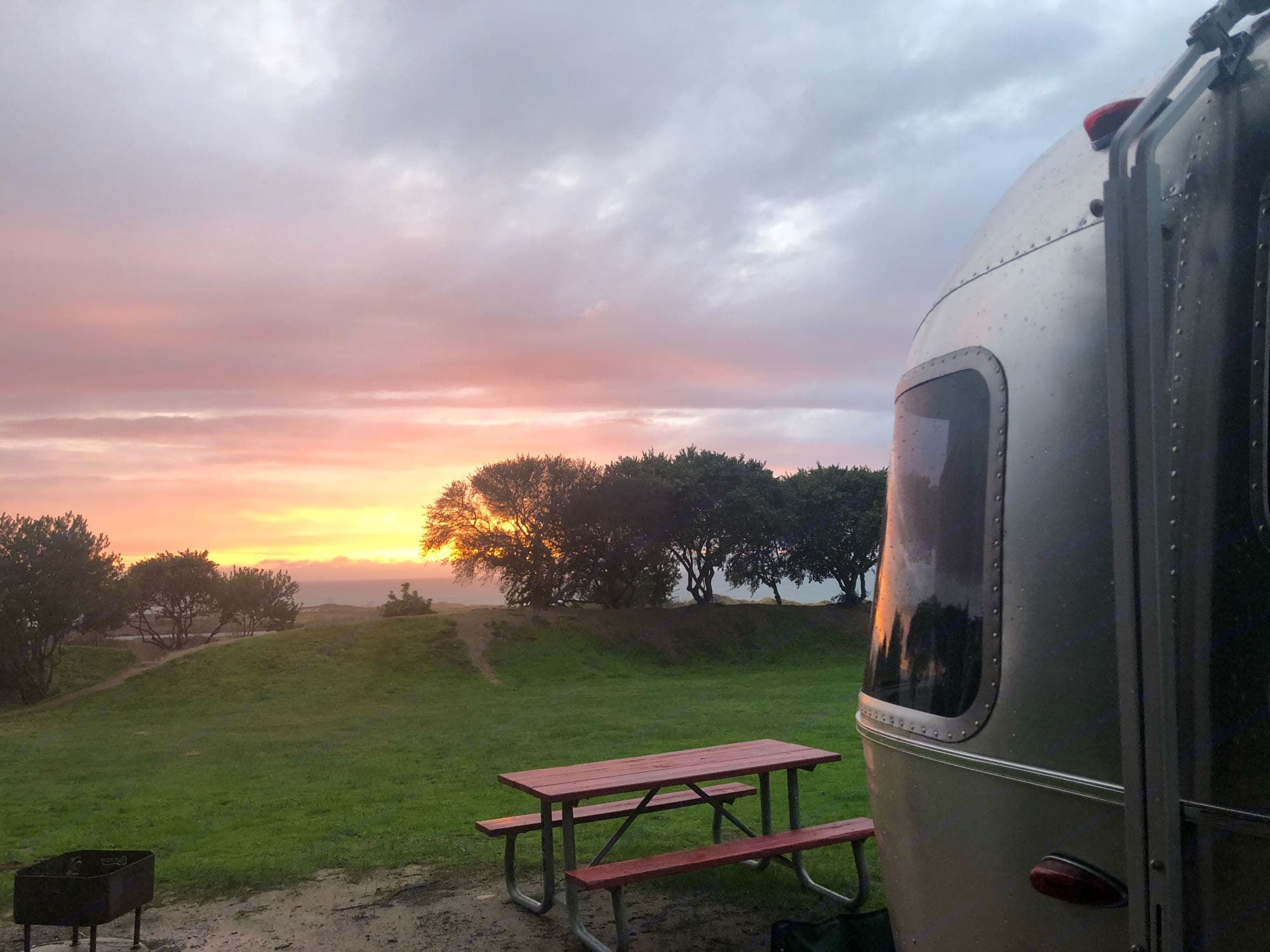 Stunning evening at Costanoa. . Airstream Flying Cloud 2019