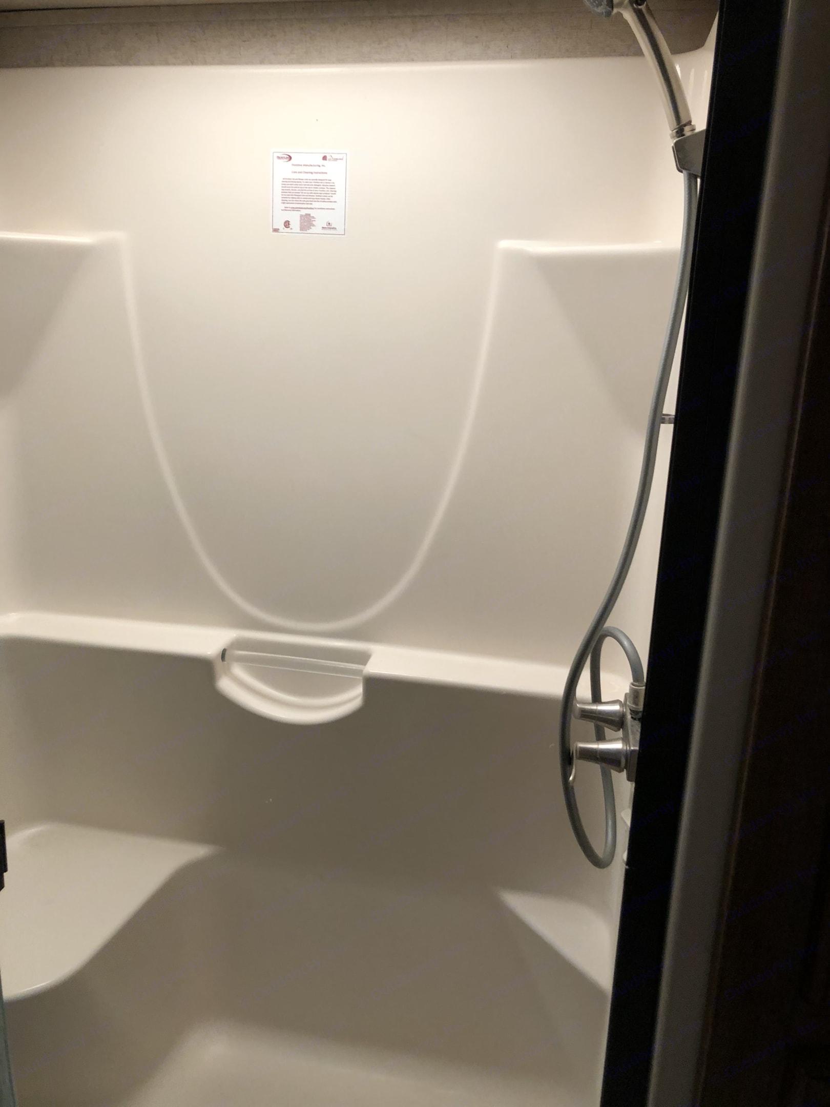 Master bath FULL SIZE shower. Heartland Sundance 2018