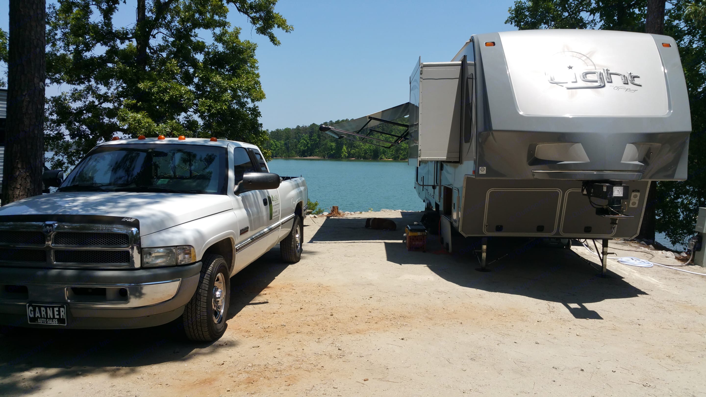 On the banks of Lake Thermond at Wildwood Campground, GA. Open Range Light 311FLR 2015