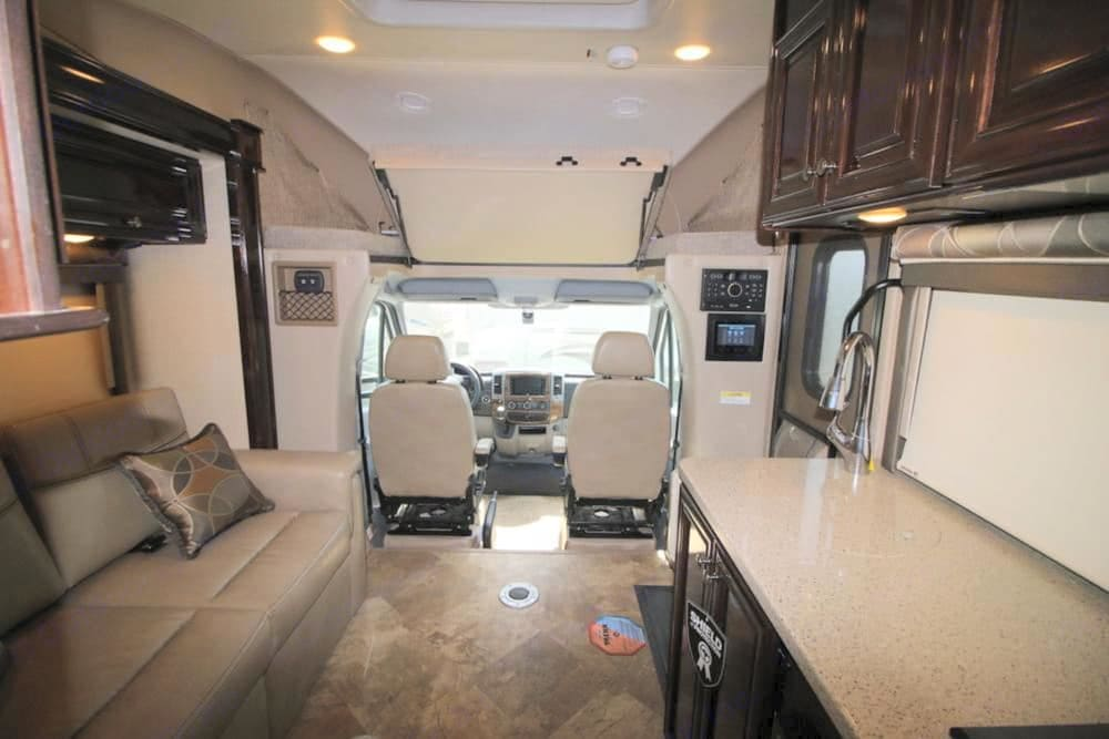 Plenty of counter space, stainless sink.. Thor Motor Coach Four Winds Siesta Sprinter 2018