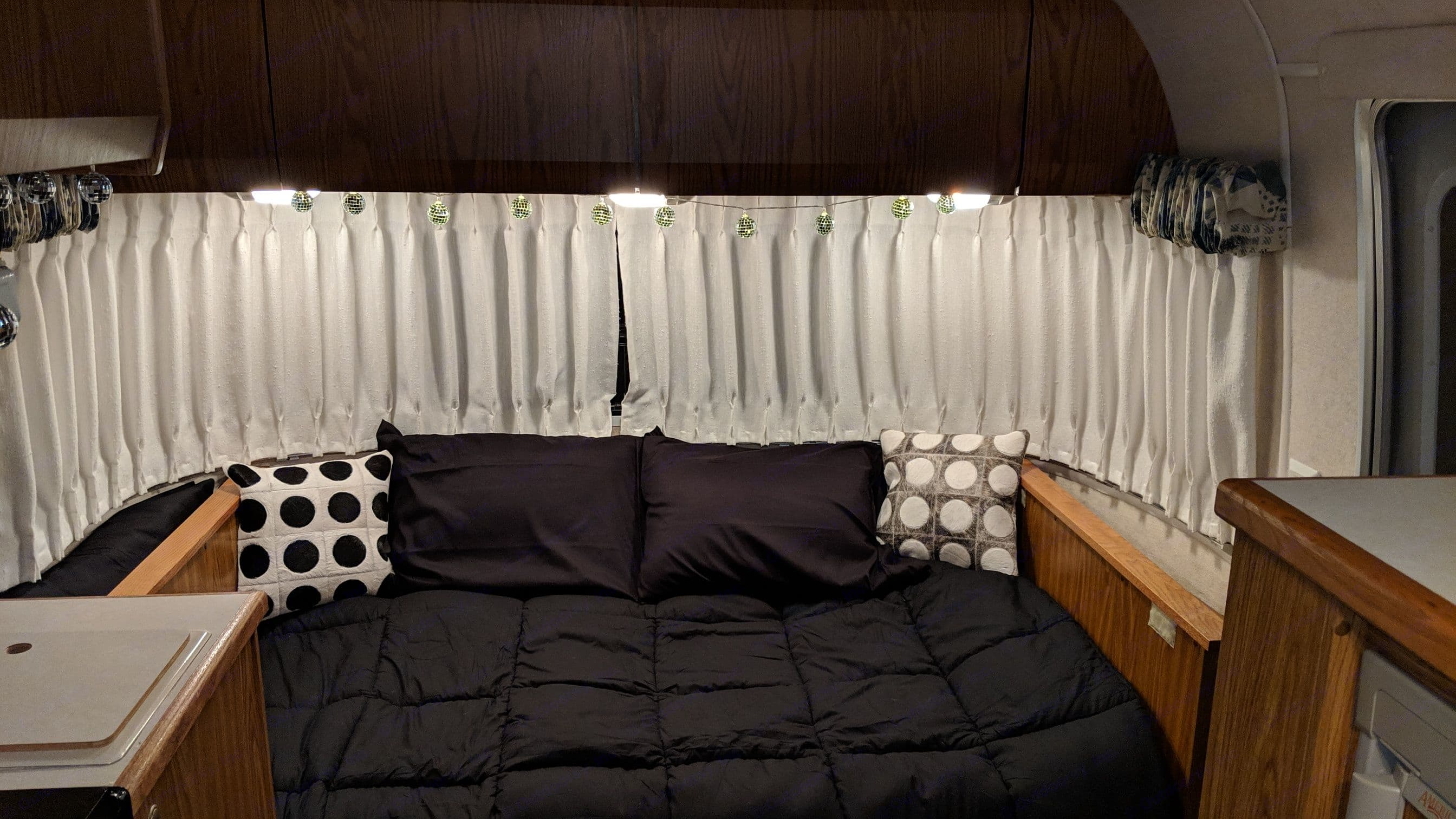 Actual Photo - Front Bed. Airstream Classic 1999