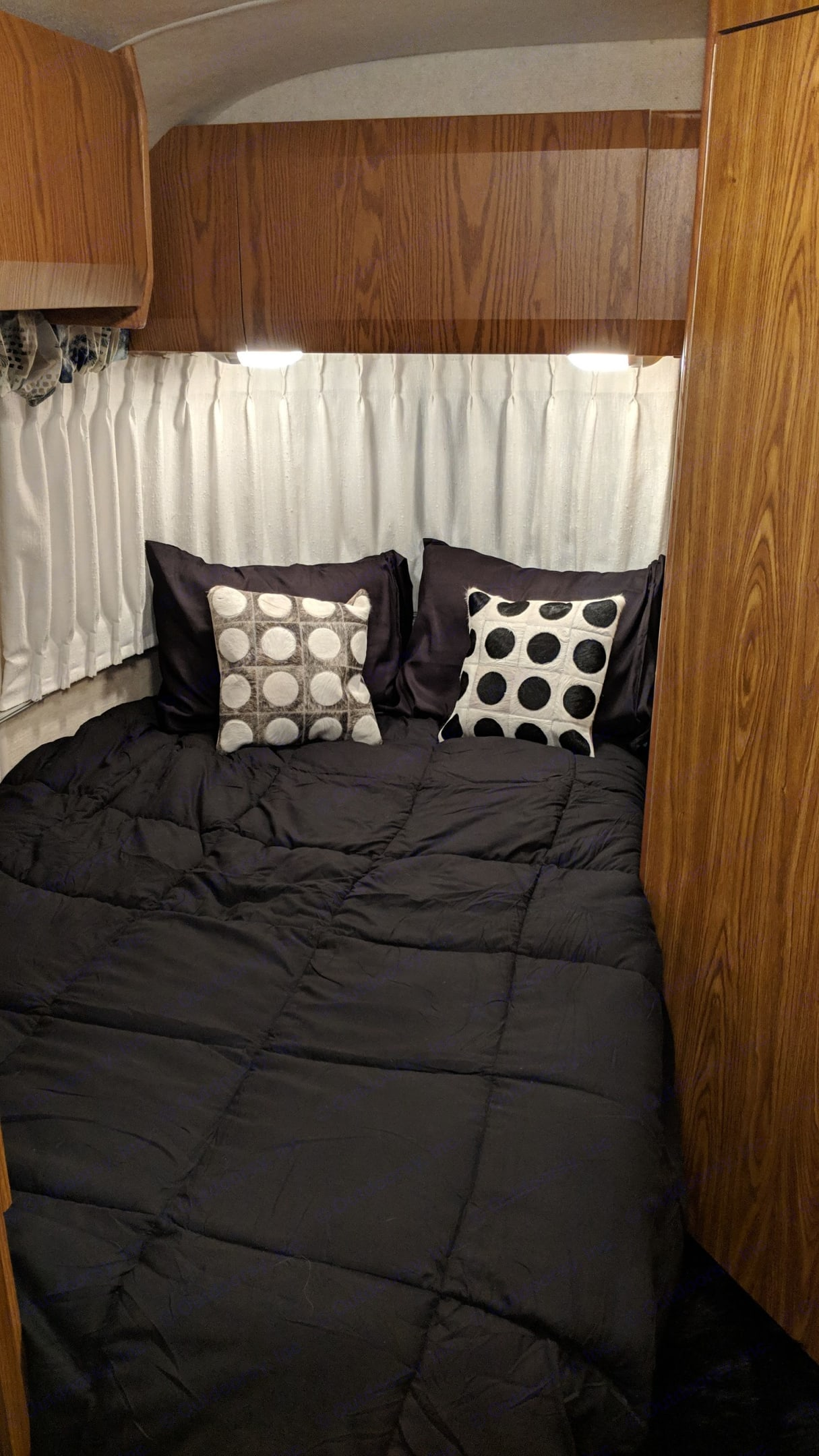 Actual Photo - Rear Bed. Airstream Classic 1999