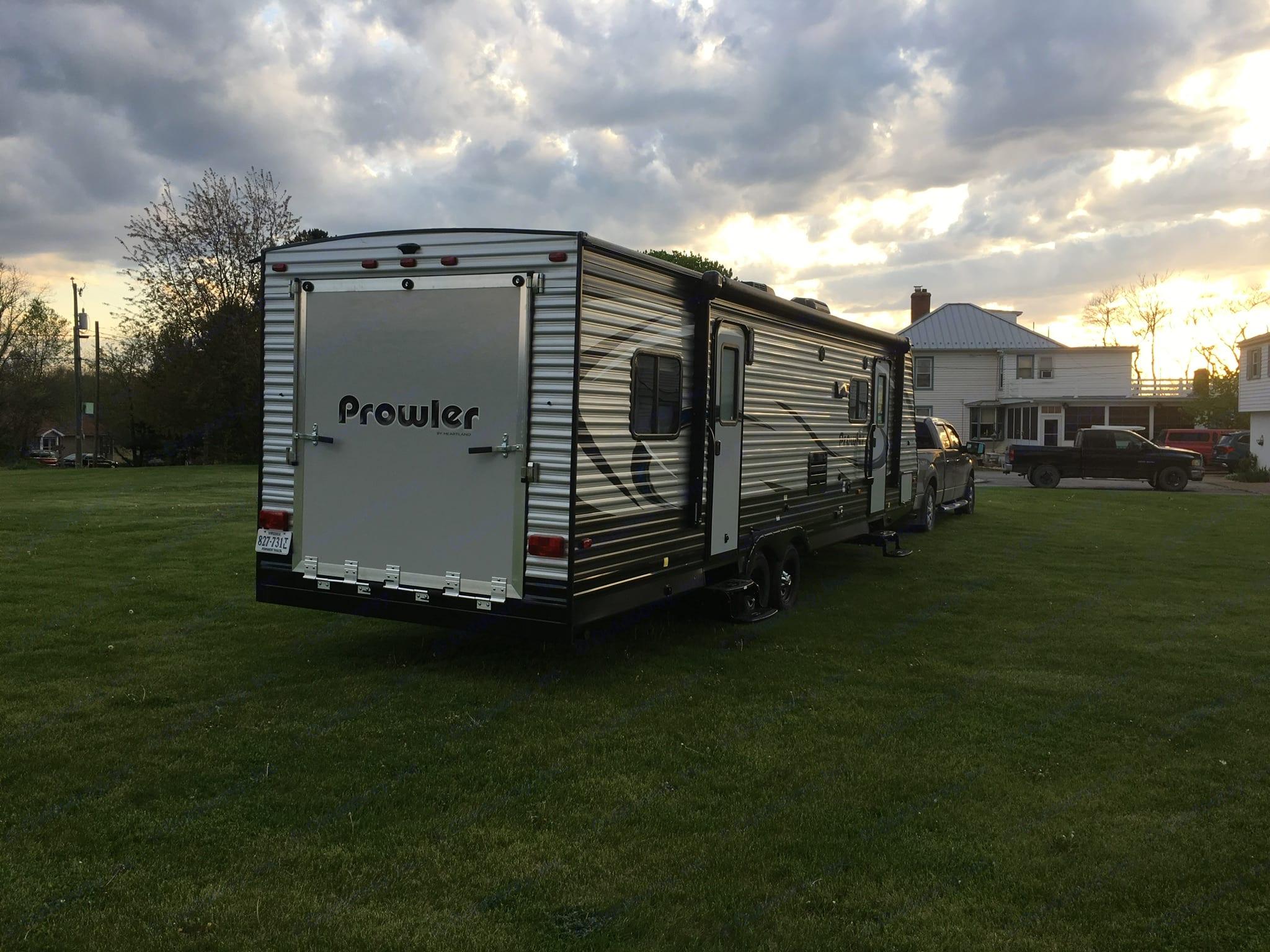Rear ramp and awning. 2 doors. . Heartland Prowler 2018