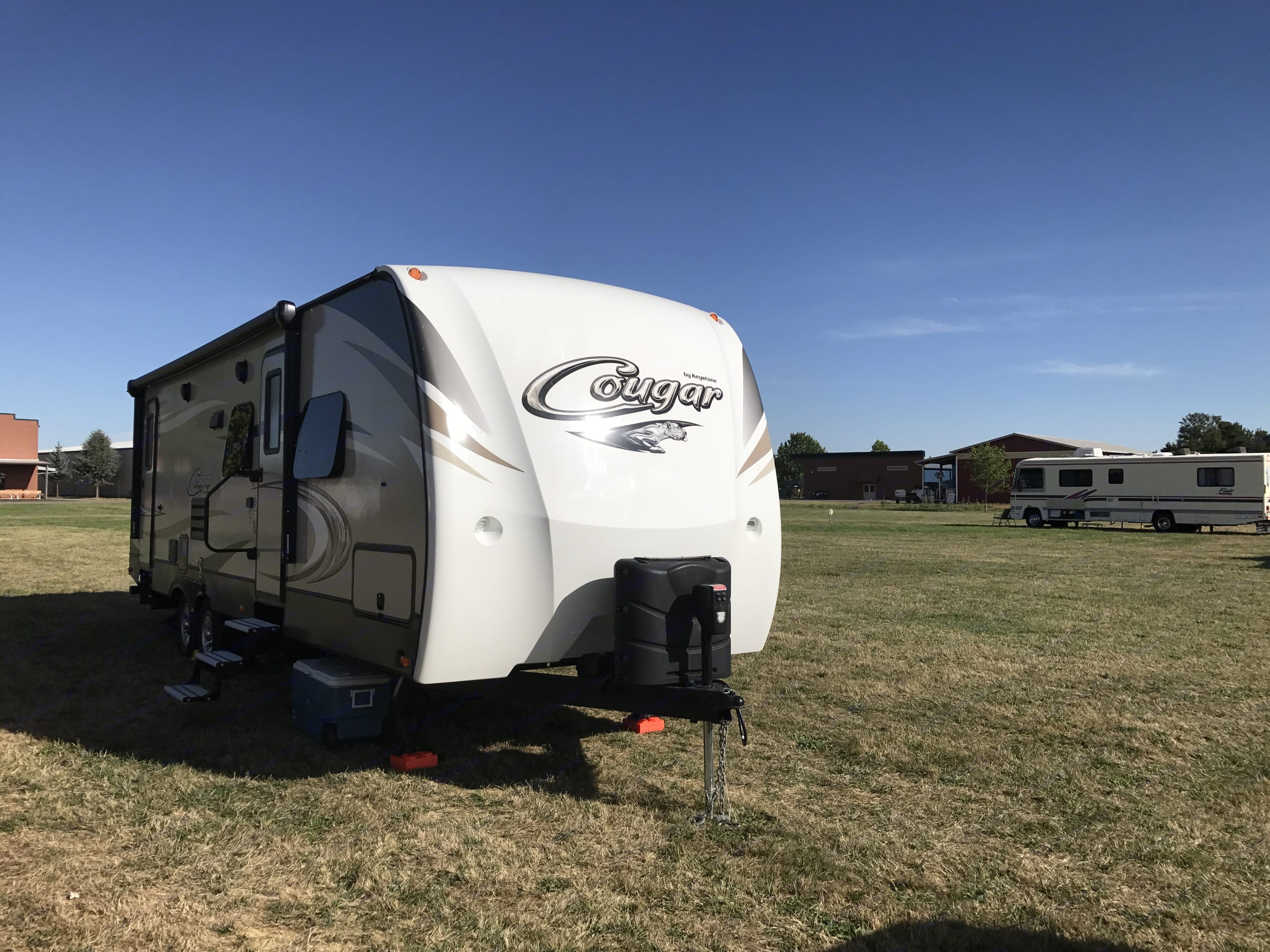 Dry camping in Salem, OR during the Great Solar Eclipse (which was amazing, by the way). . Keystone Cougar 2017