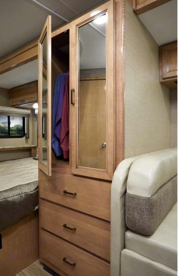 Large closet. Thor Motor Coach Chateau Citation Sprinter 2017