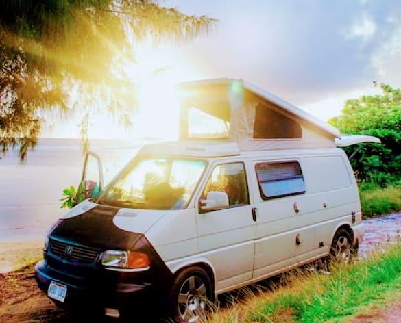 Park at the beach and stay for the night!. Volkswagen Eurovan 1997