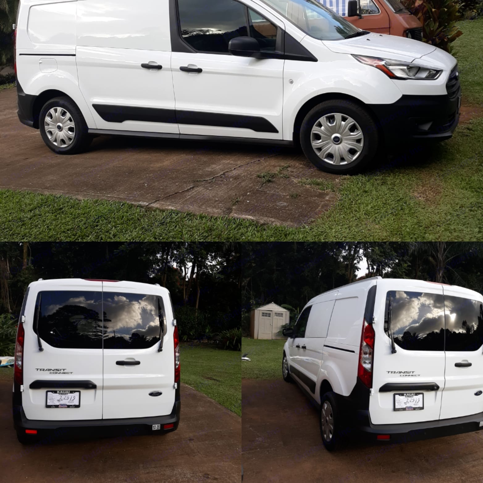 New, clean and great on gas. A very easy to drive and affordable unique Kauai vacation . Ford transit 2019