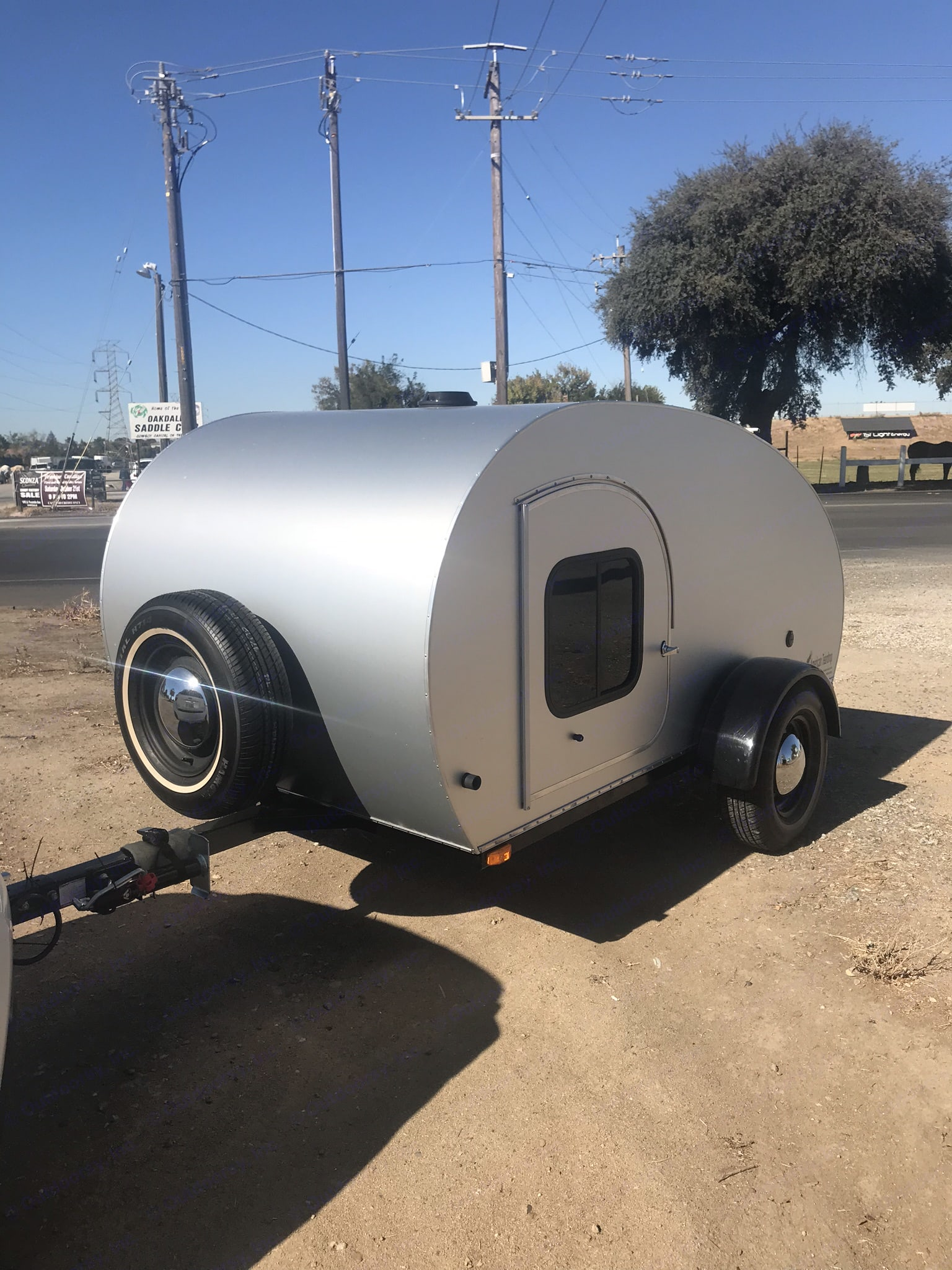 This camper has two side doors. One on each side. These doors open up to the bed area. . American Teardrop Travel Trailer 2009