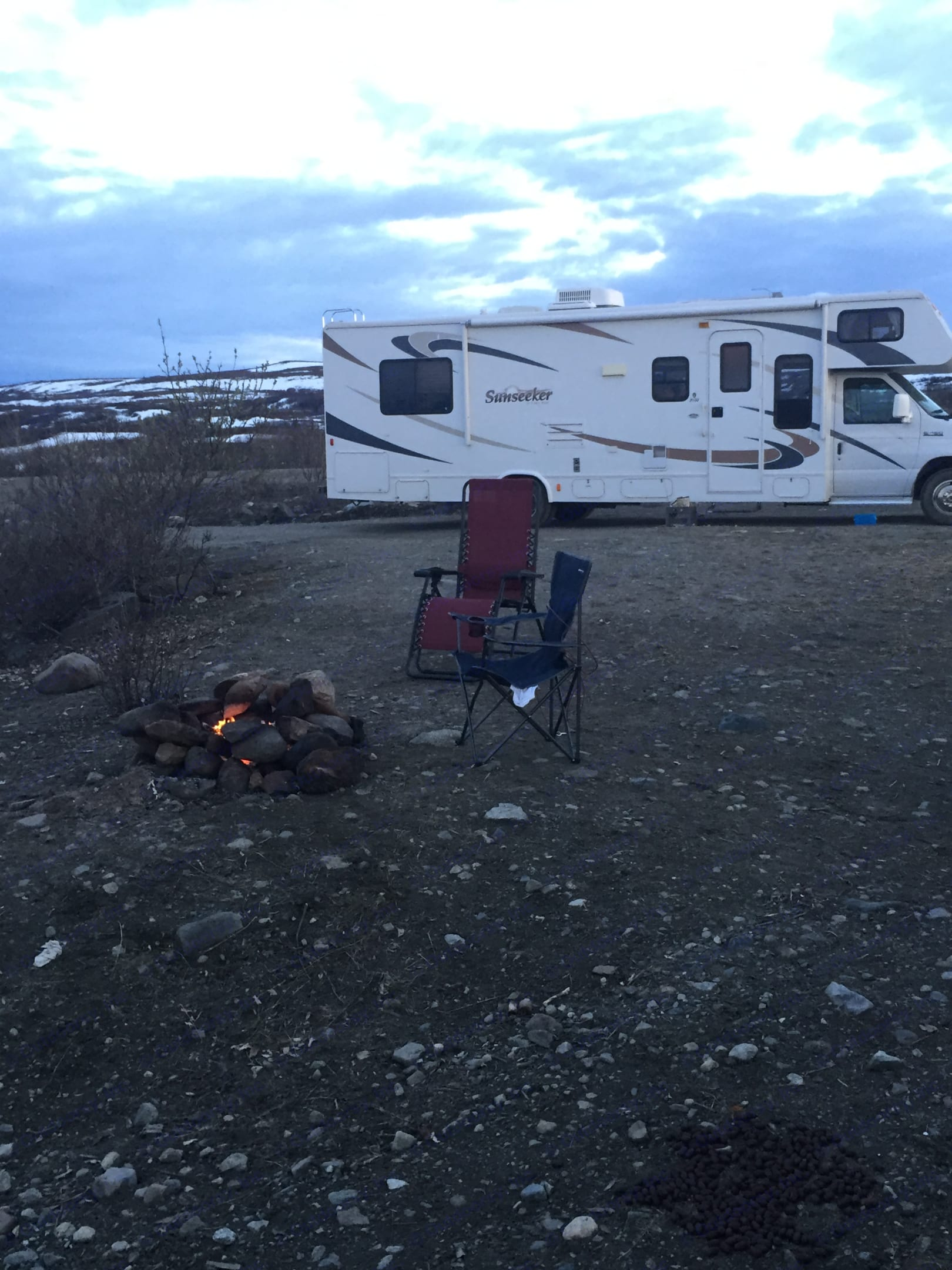 This was the first camping trip I took in the RV! Epic, peaceful Alaska views!. Forest River Sunseeker 2009