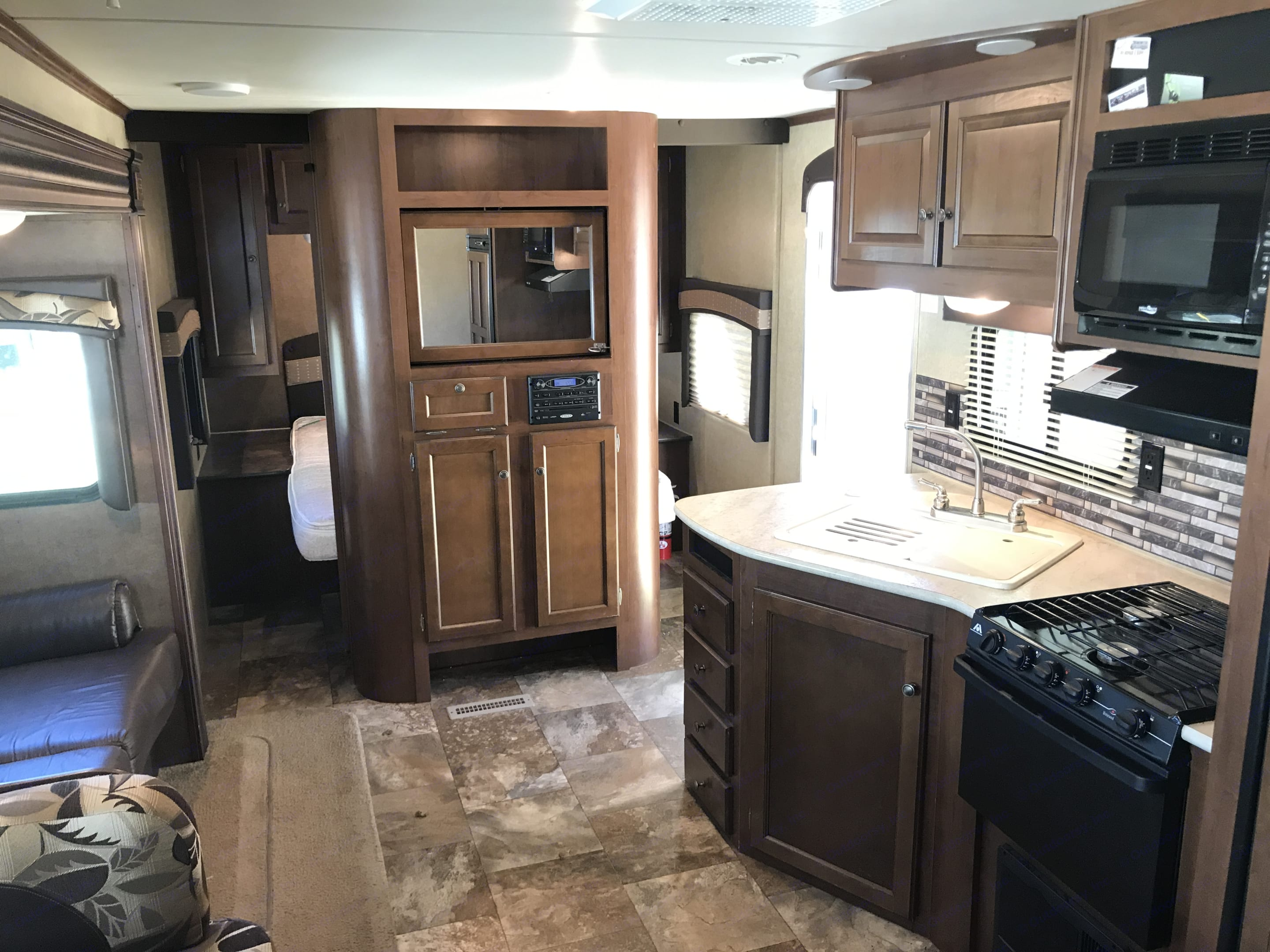 Look at all of this room in the living area! . Jayco Jay Flight 2015