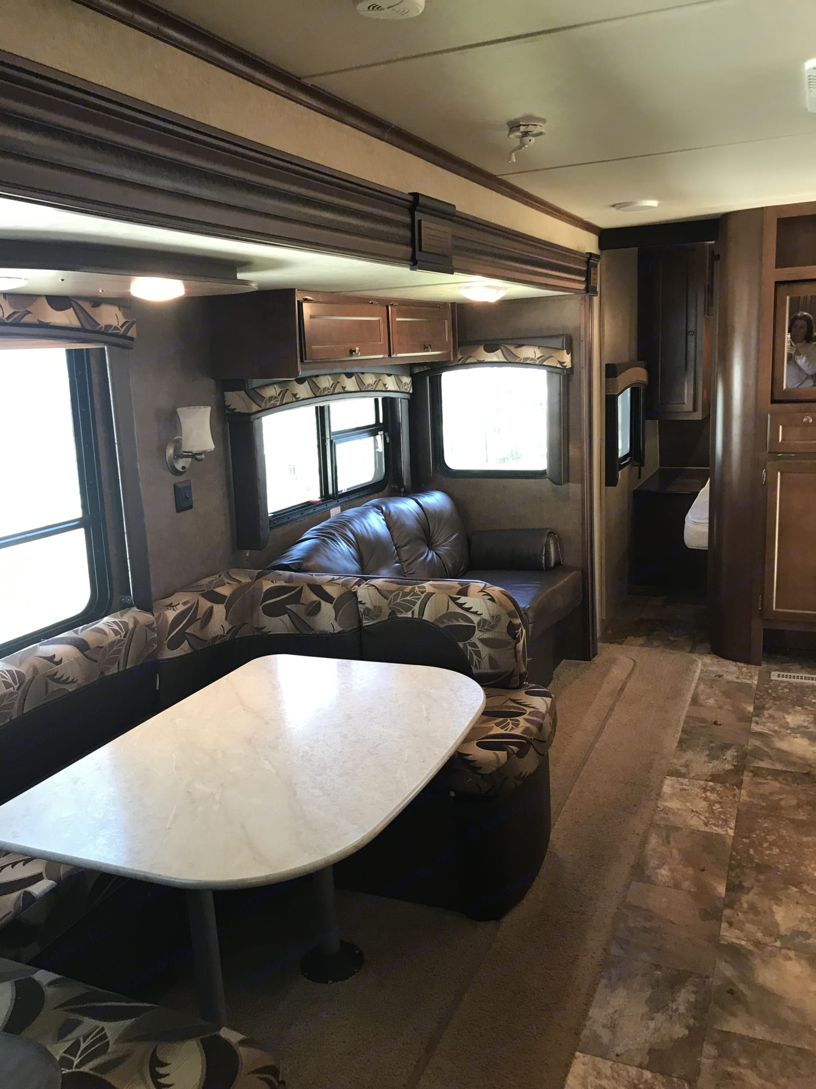 Look at all this space.  This is the perfect family bunkhouse for your camping adventures.  Our camper has 2 ac units, a fantastic indoor kitchen, an amazing outdoor kitchen, a brand new extra large awning for shade, new tires, and everything you need for your next family adventure. . Jayco Jay Flight 2015