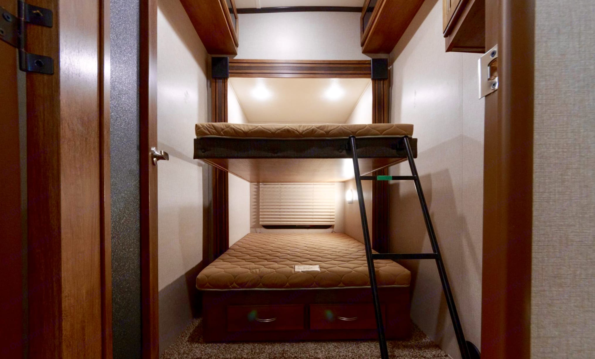 Bunk Room for the kids with a TV!. Coachmen Chaparral 373MBRB 2019