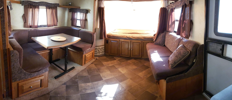 Dining and Master Bedroom. Forest River Shamrock 2014