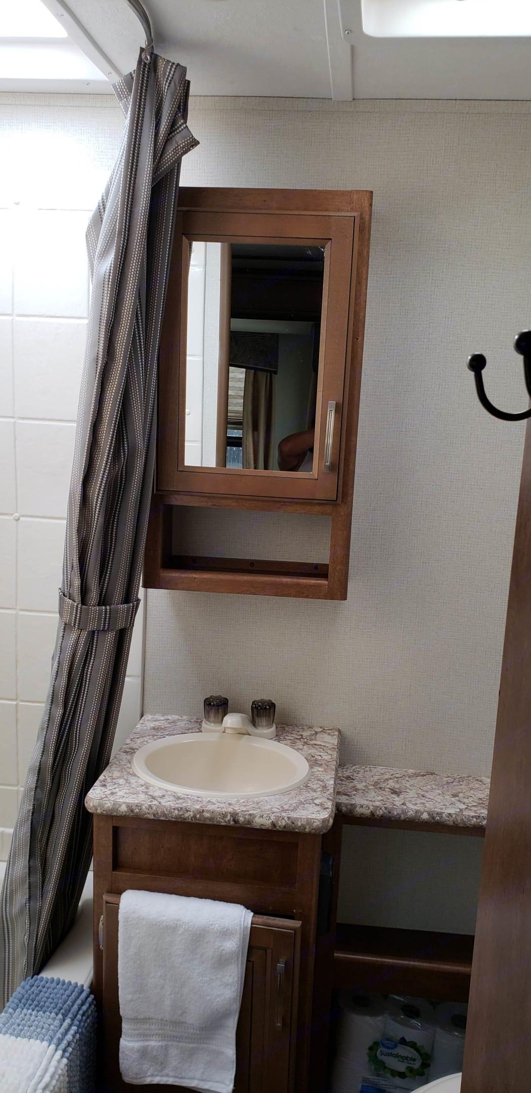 bathroom. Forest River Wildcat 2018