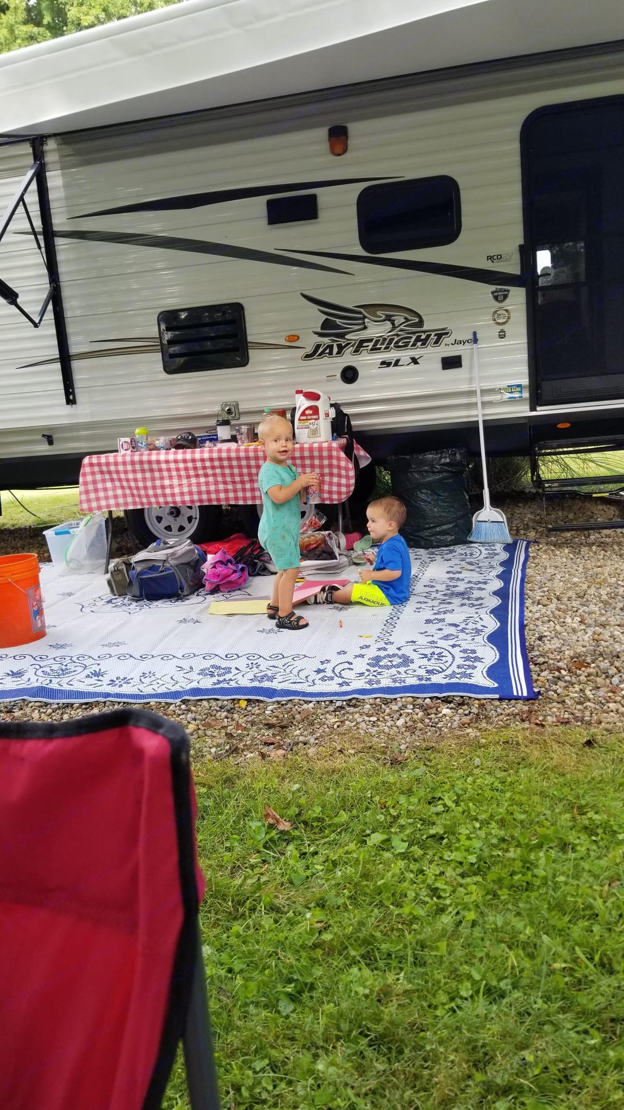 Family friendly fun! . Jayco Jay Flight Bunkhouse 2017
