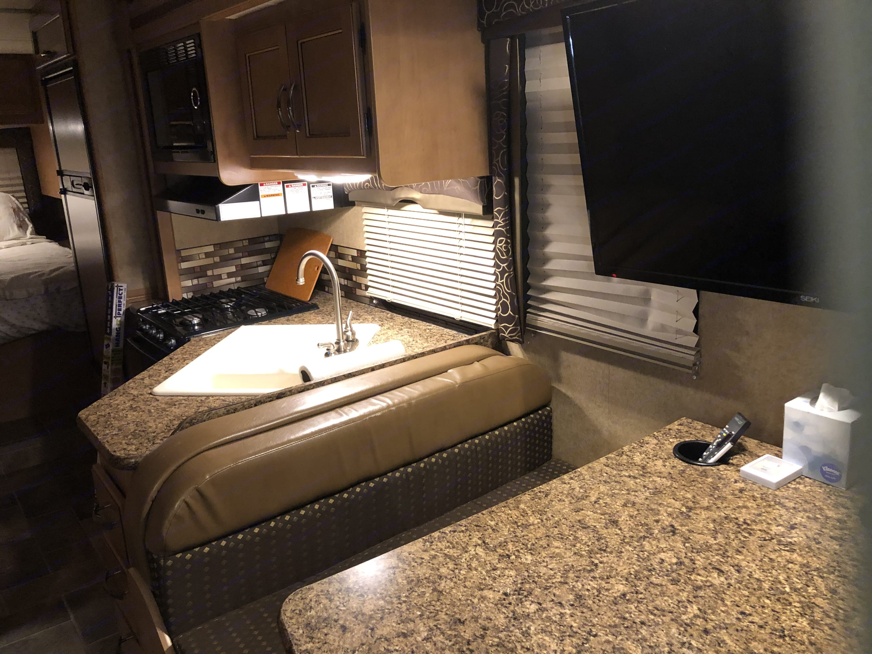 Handy kitchen . Thor Motor Coach Chateau 2016