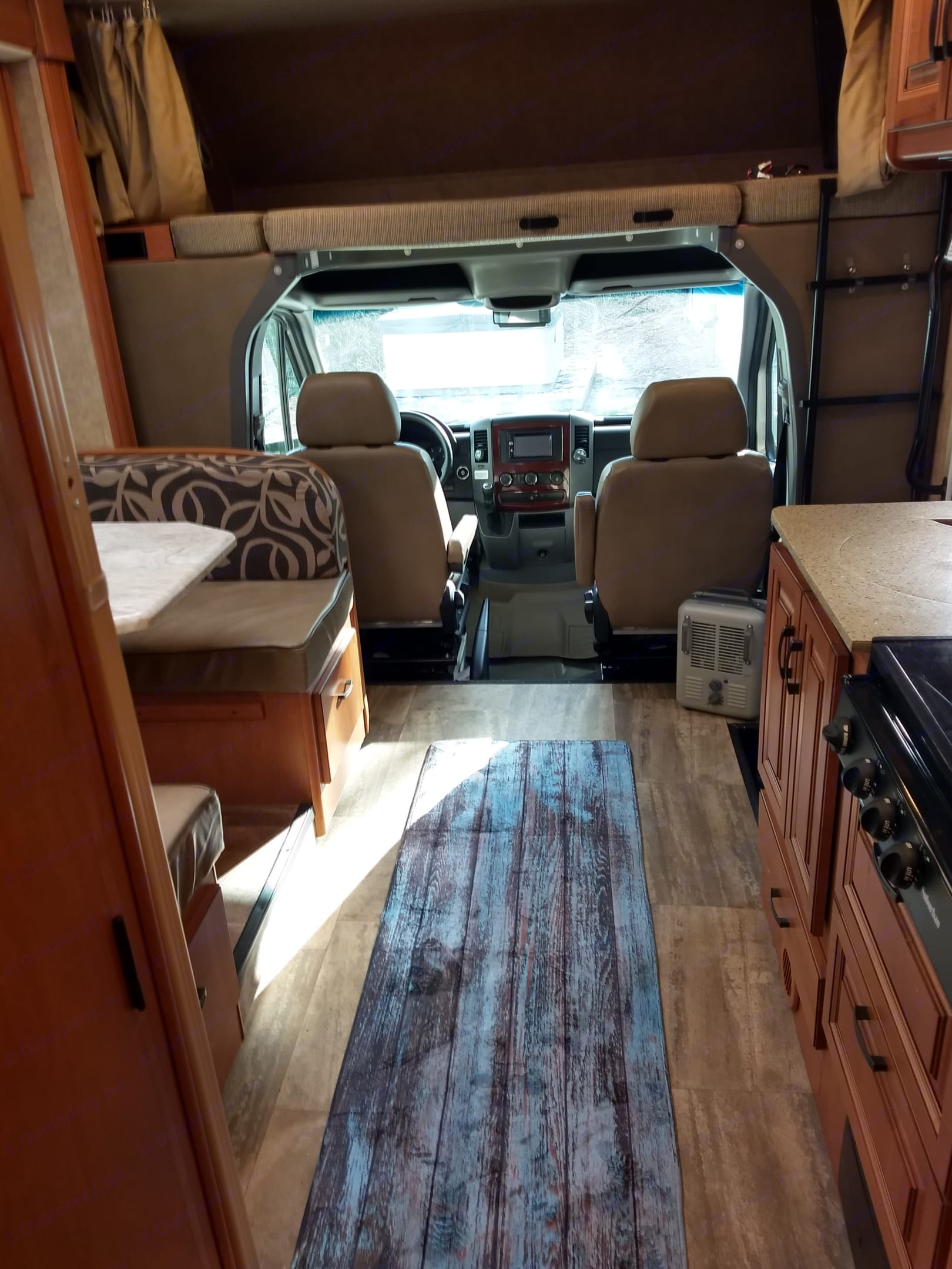 Looking toward cab with plenty of floor space.. Forest River Forester 2015