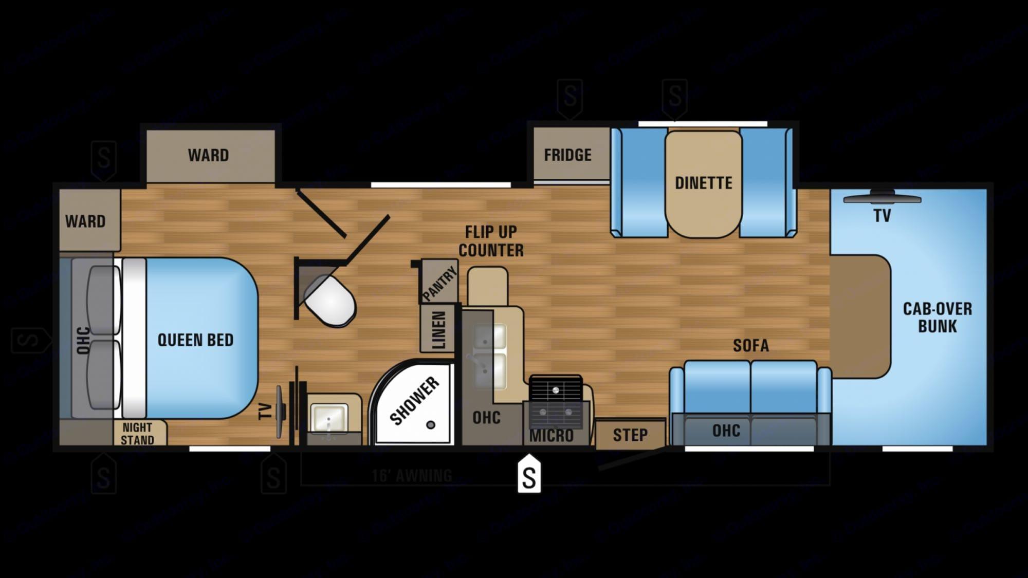 Floorplan. Jayco Greyhawk 2013