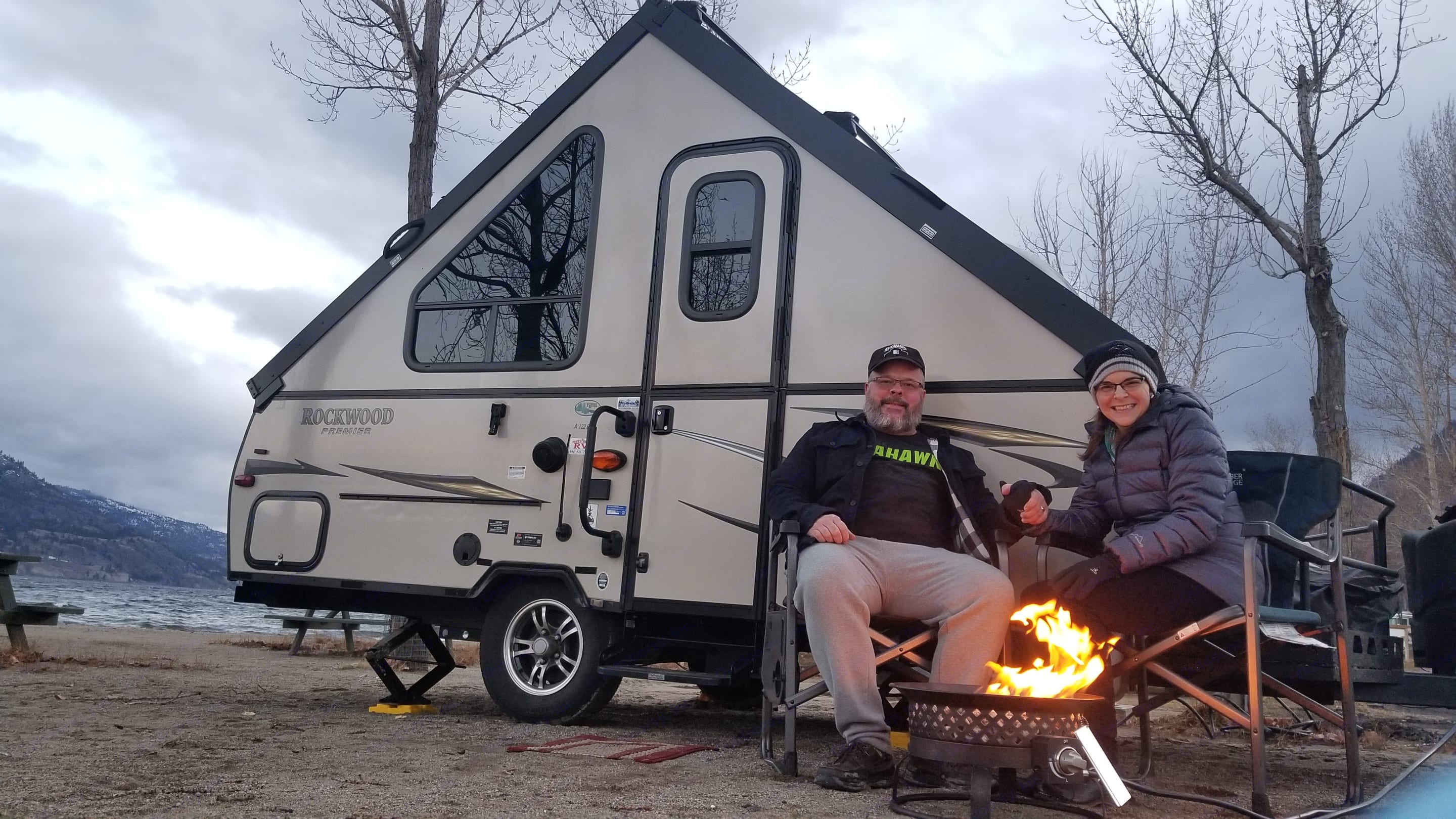 Relaxing by the fire. (available as an extra). Forest River Rockwood Premier 2015