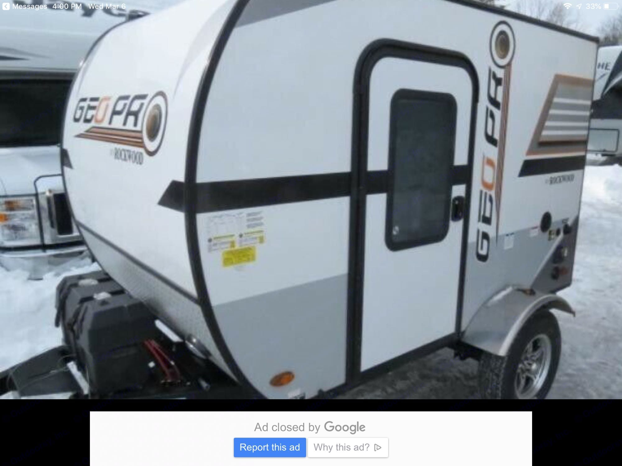 The Rockwood GEO Pro 2018 trailer is easily towable by most vehicles and easy to handle off the hitch as well. . Forest River Rockwood 2018