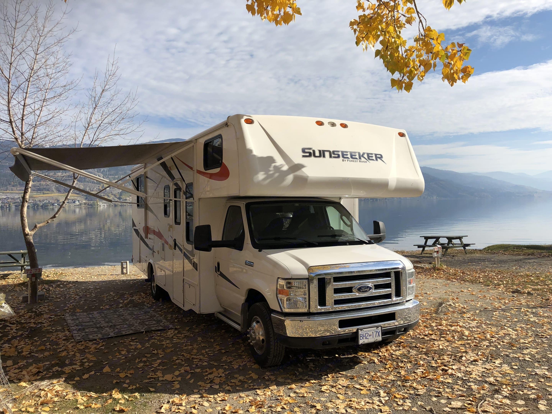 Beautiful fall camping in the Okanagan. Forest River Sunseeker 2011