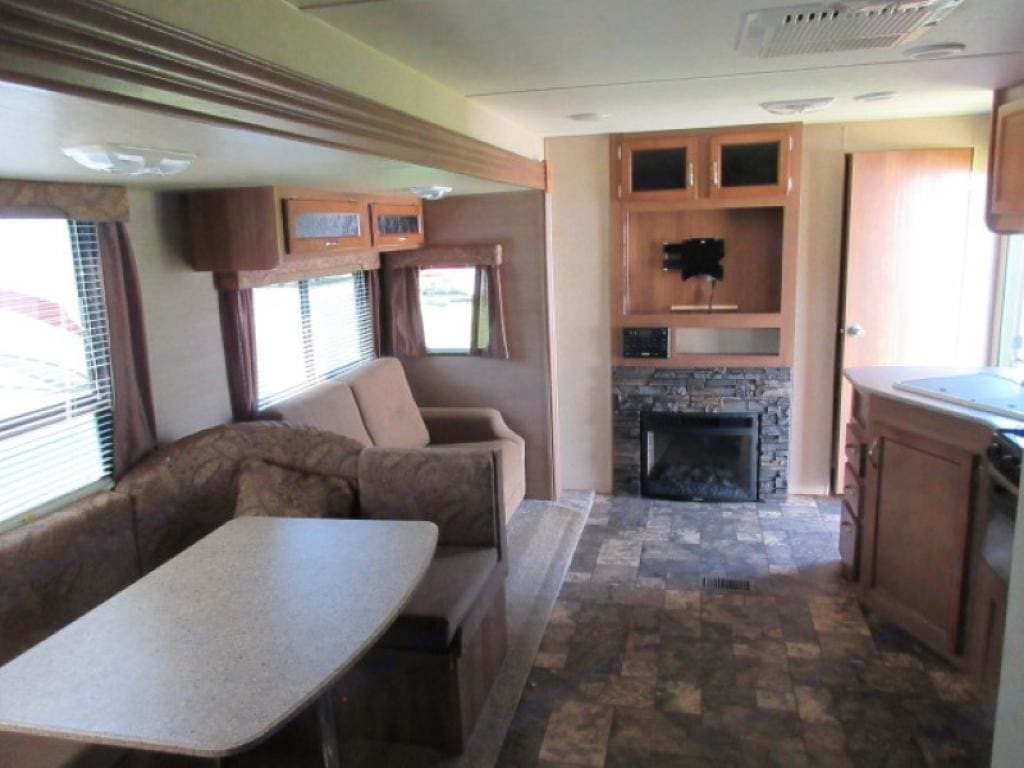 Main living area.  TV and DVD player included ( not in pic) at no additional charge.  . Coachmen Catalina 2015