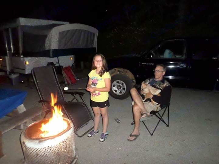 Another fun camping experience in Fort Bragg, California. Our precious granddaughter roasting a marshmallow. . Coleman Fairview 2000